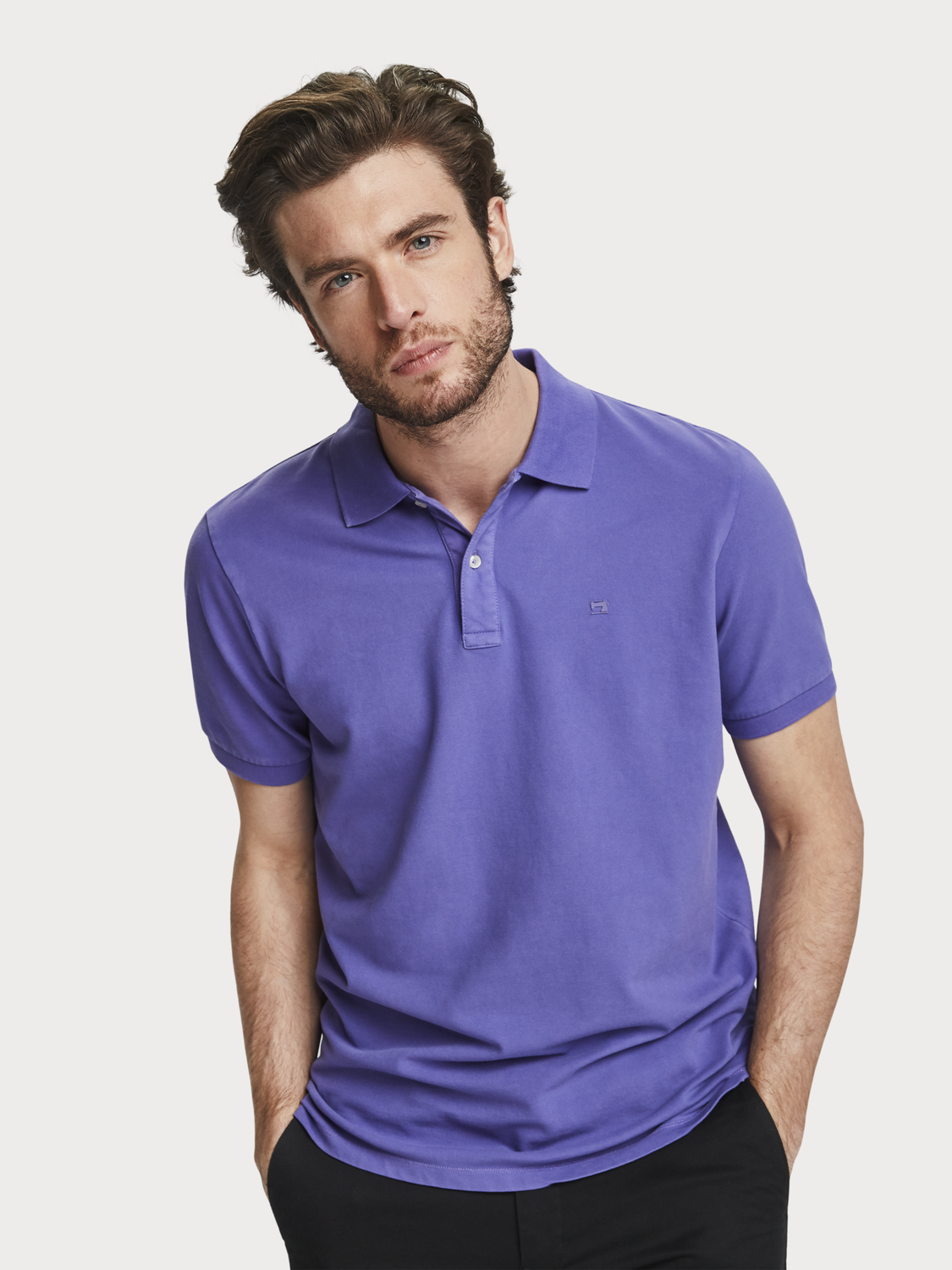Men Garment dyed polo