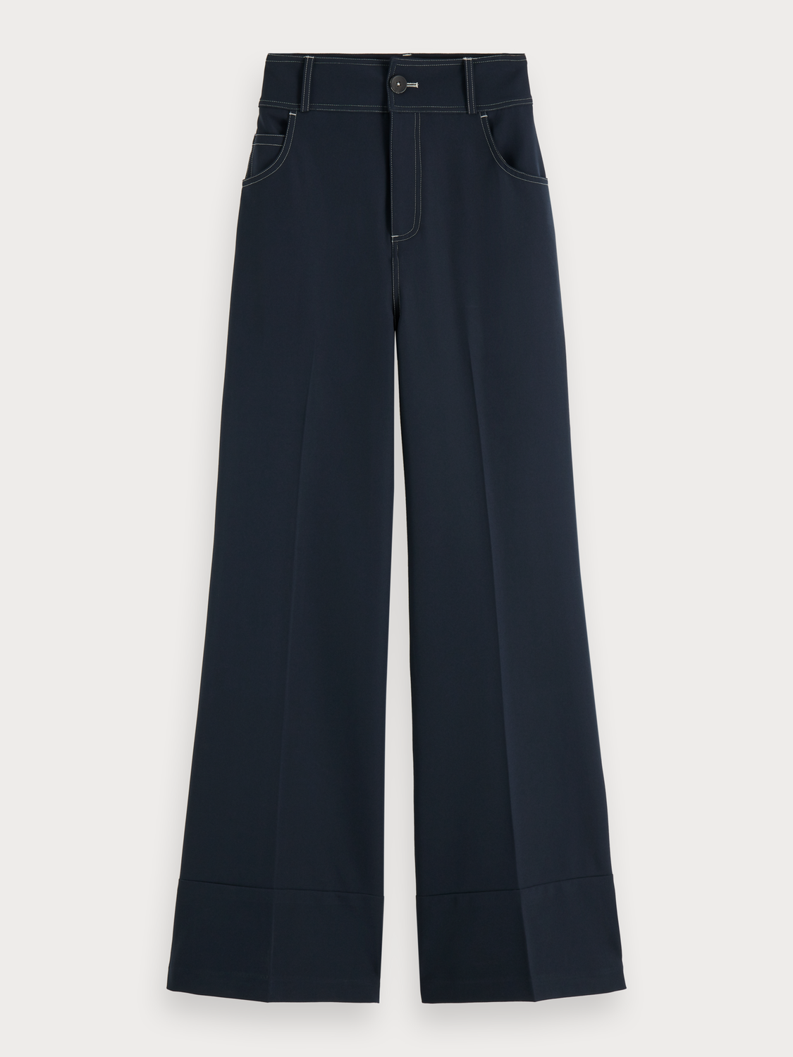 Women Wide Leg Stretch Trousers