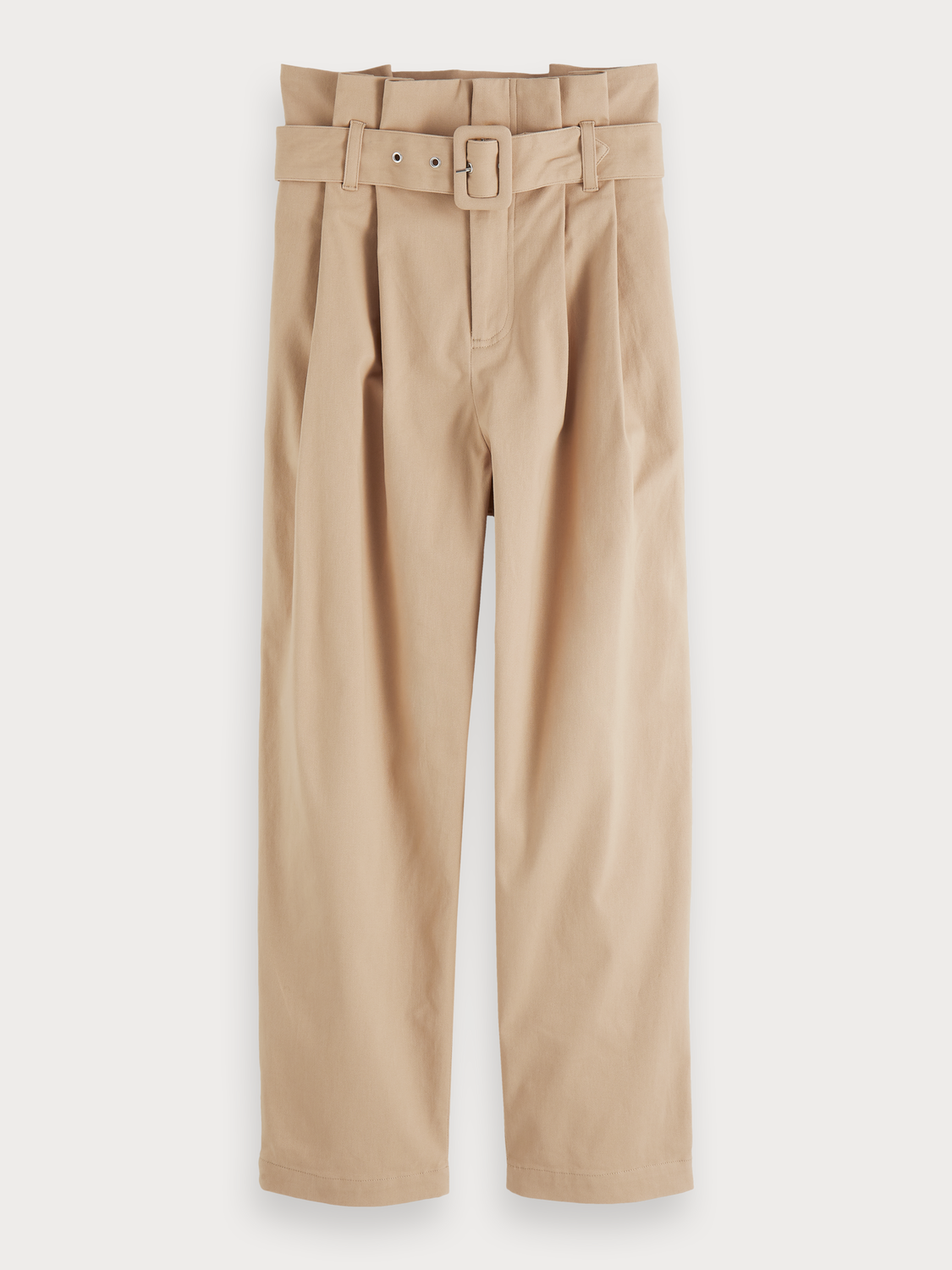 Women Belted Paperbag Trousers