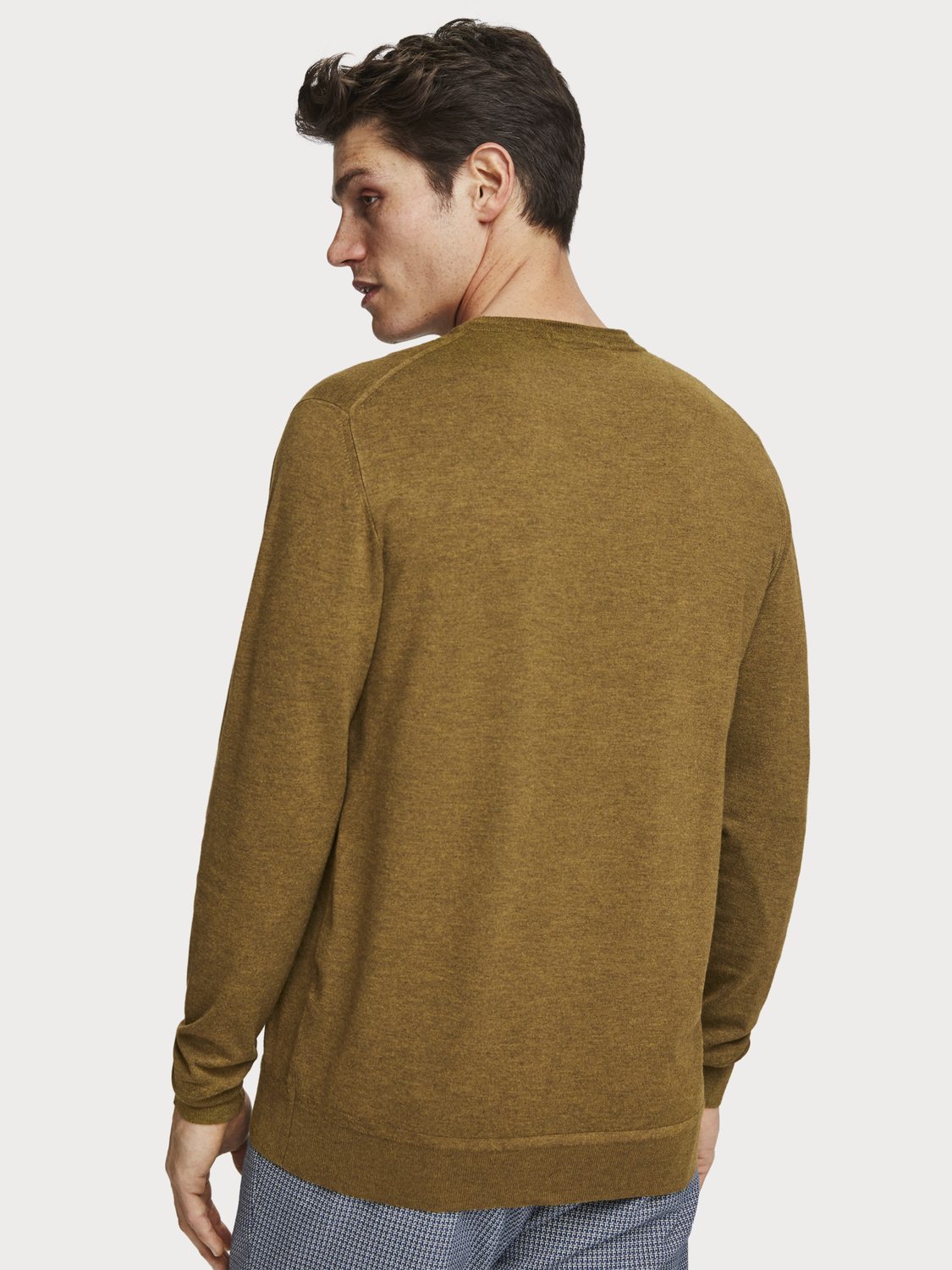 Men Mélange Crew Neck Pullover