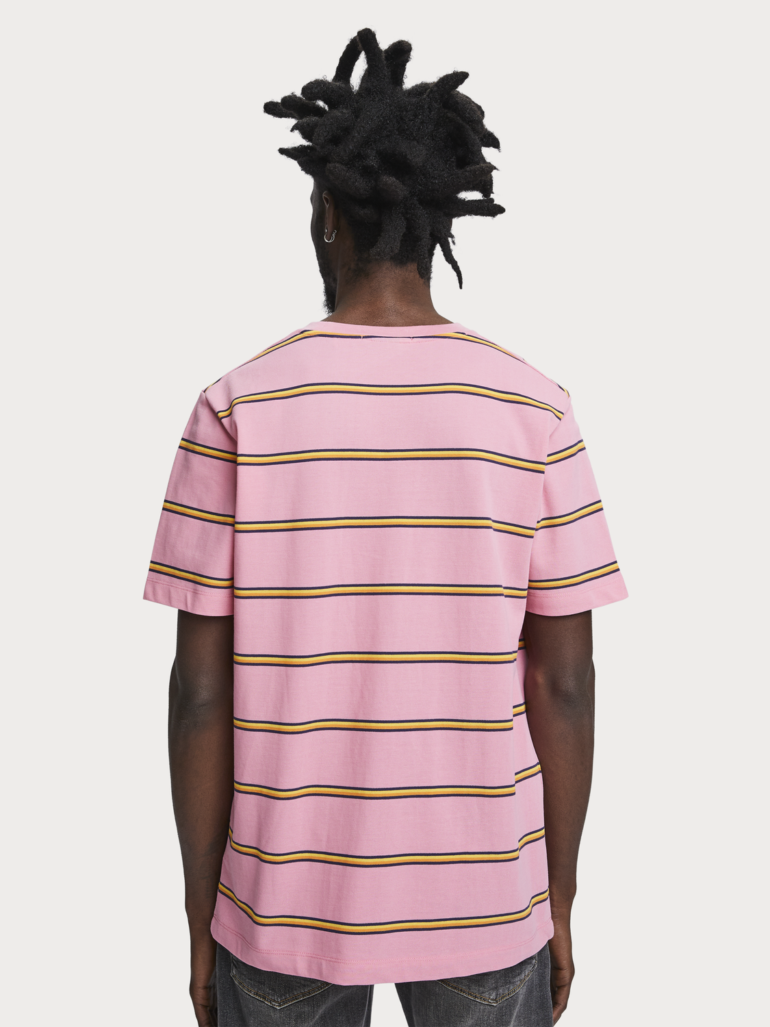 Men Striped piqué t-shirt