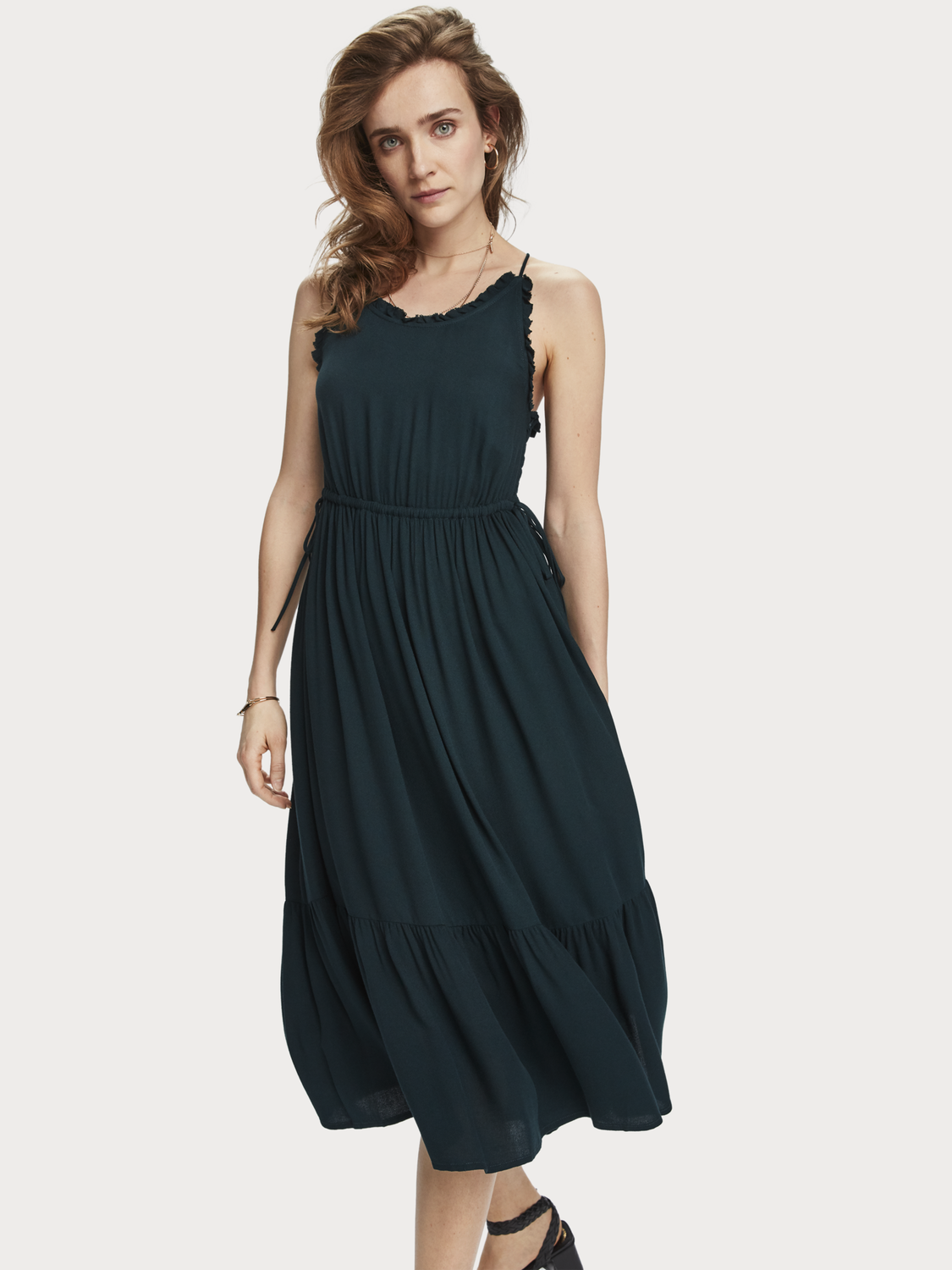 Women Spaghetti Strap Summer Dress