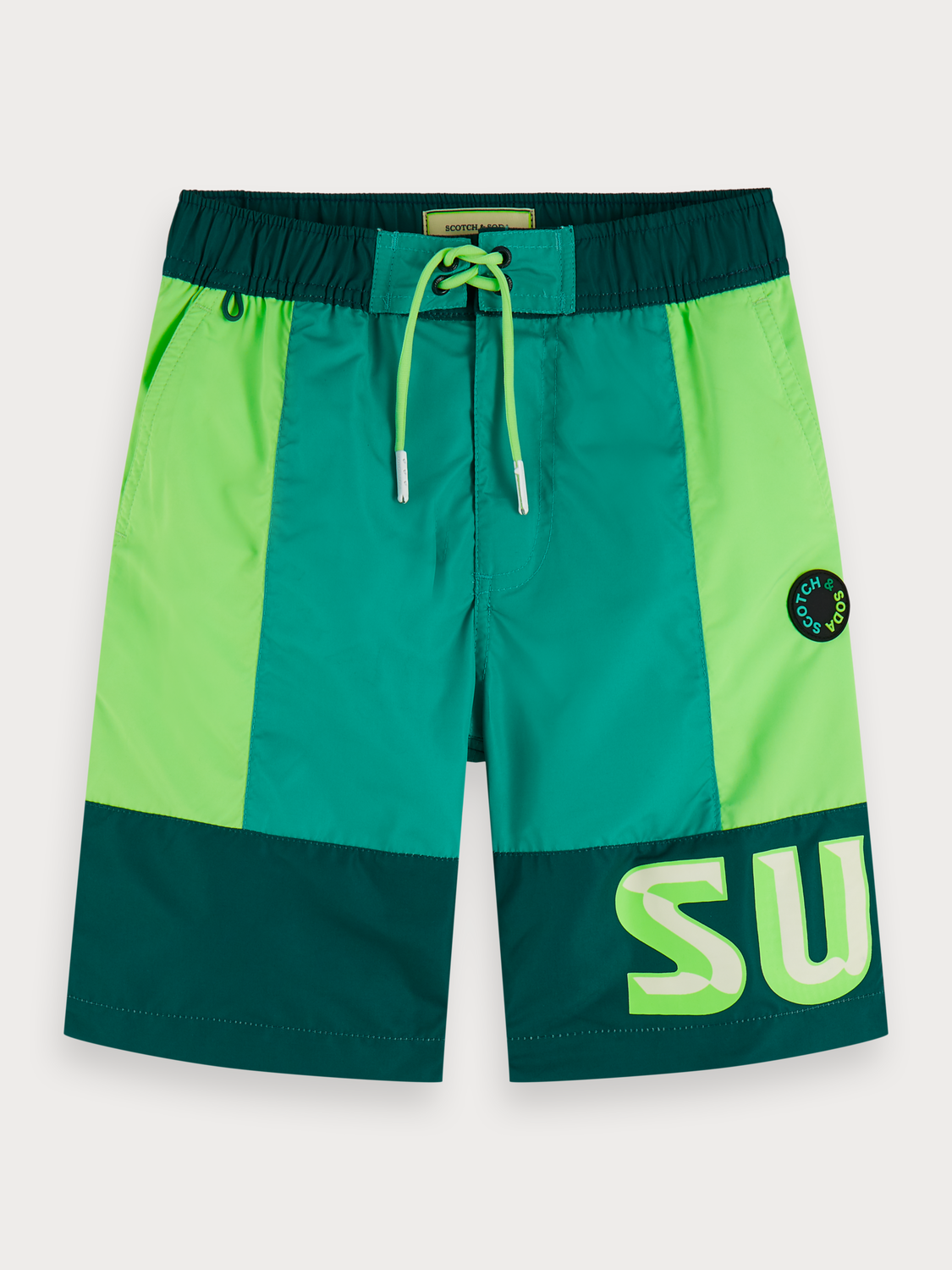 Boys Colour Block Board Shorts