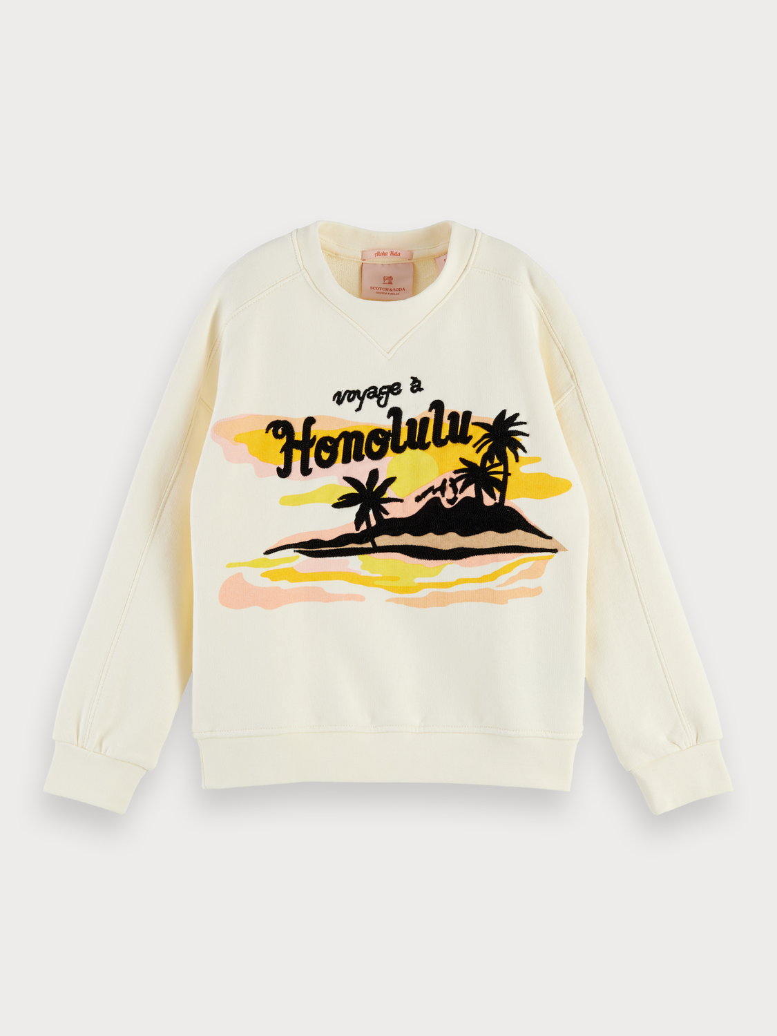 Girls Hawaiian Artwork Sweater