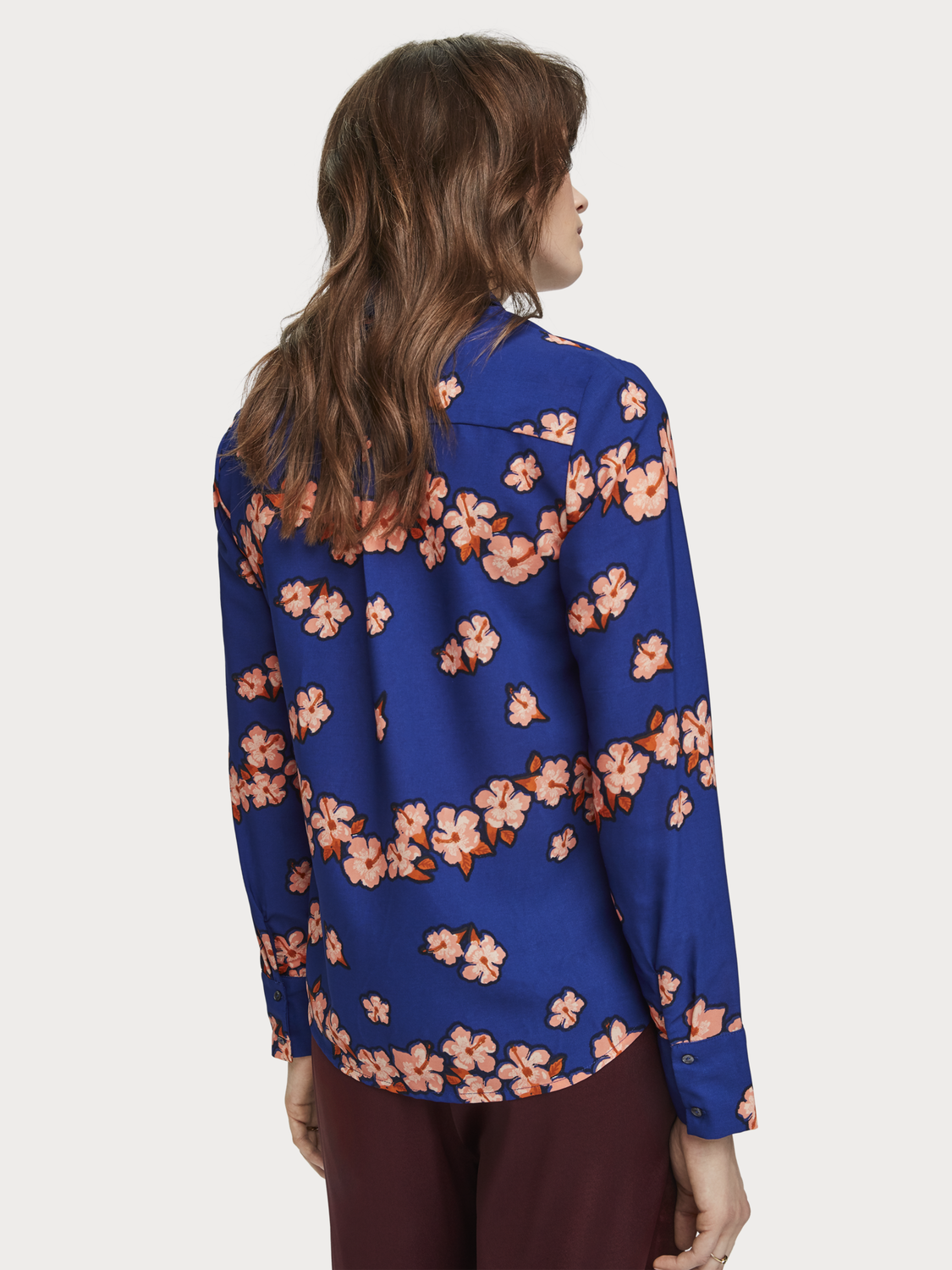 Damen Shirt mit floralem Hawaii-Print