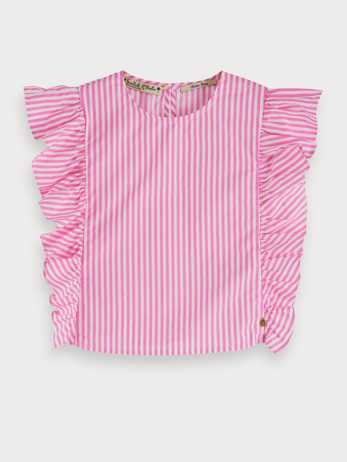 Girls Ruffled cotton top