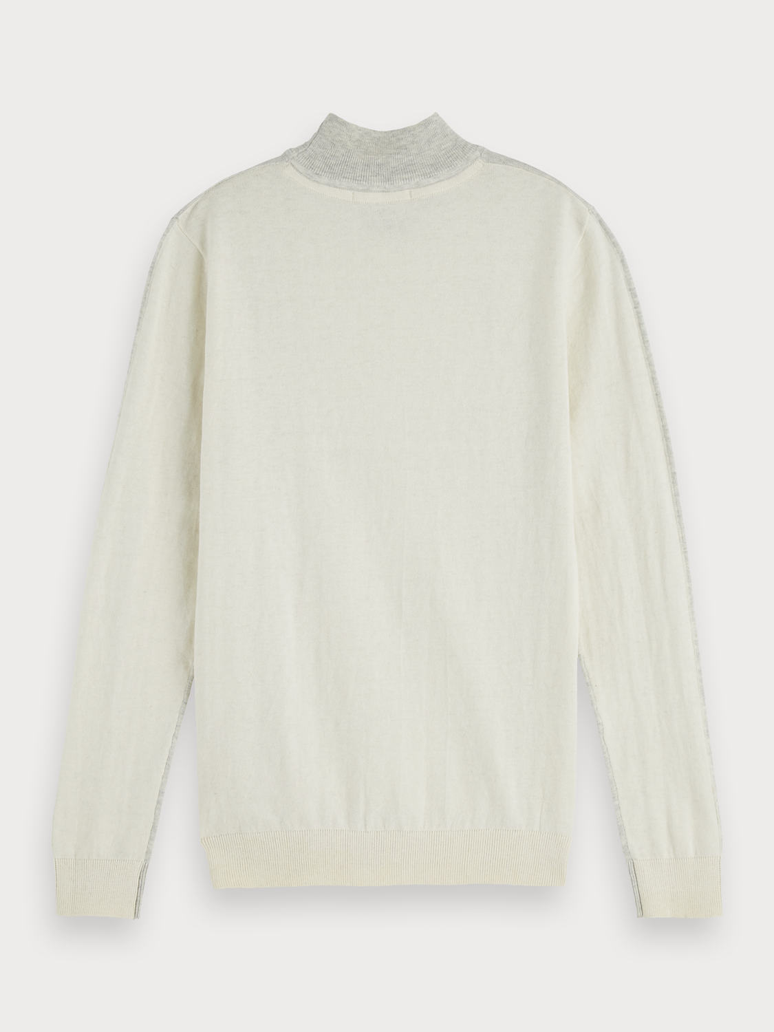 Women Two-Tone Cotton-Cashmere Turtleneck