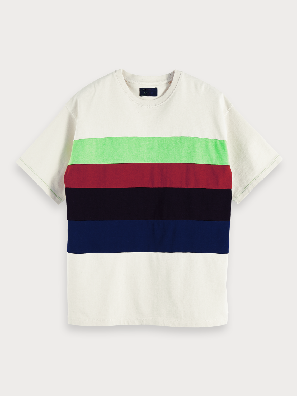 Men Block Stripe T-Shirt | Lot 22