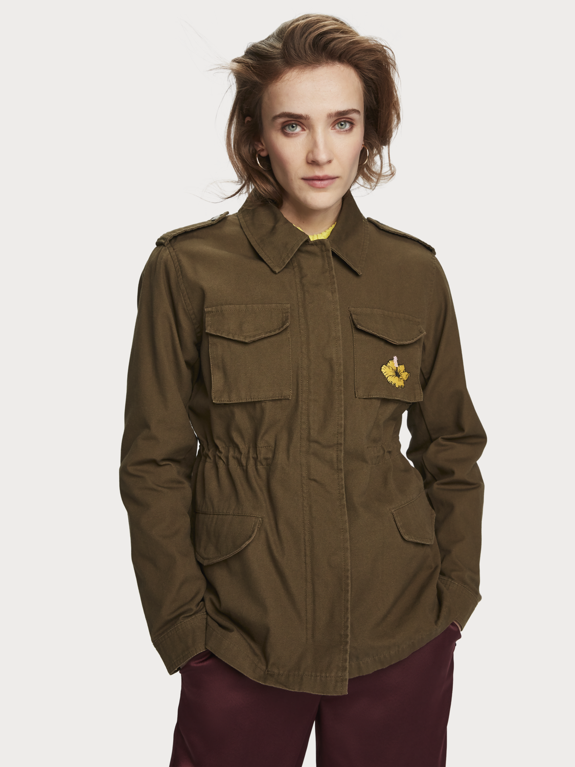 Women Embroidered military jacket