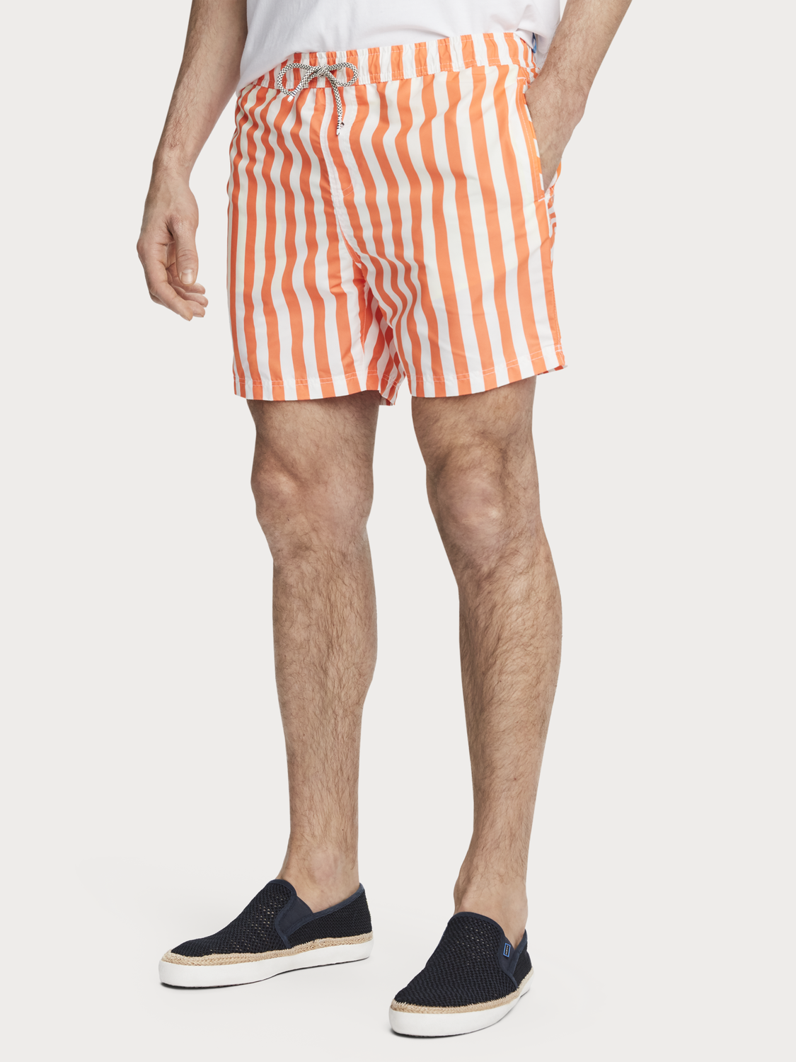 Men Bright striped swim shorts