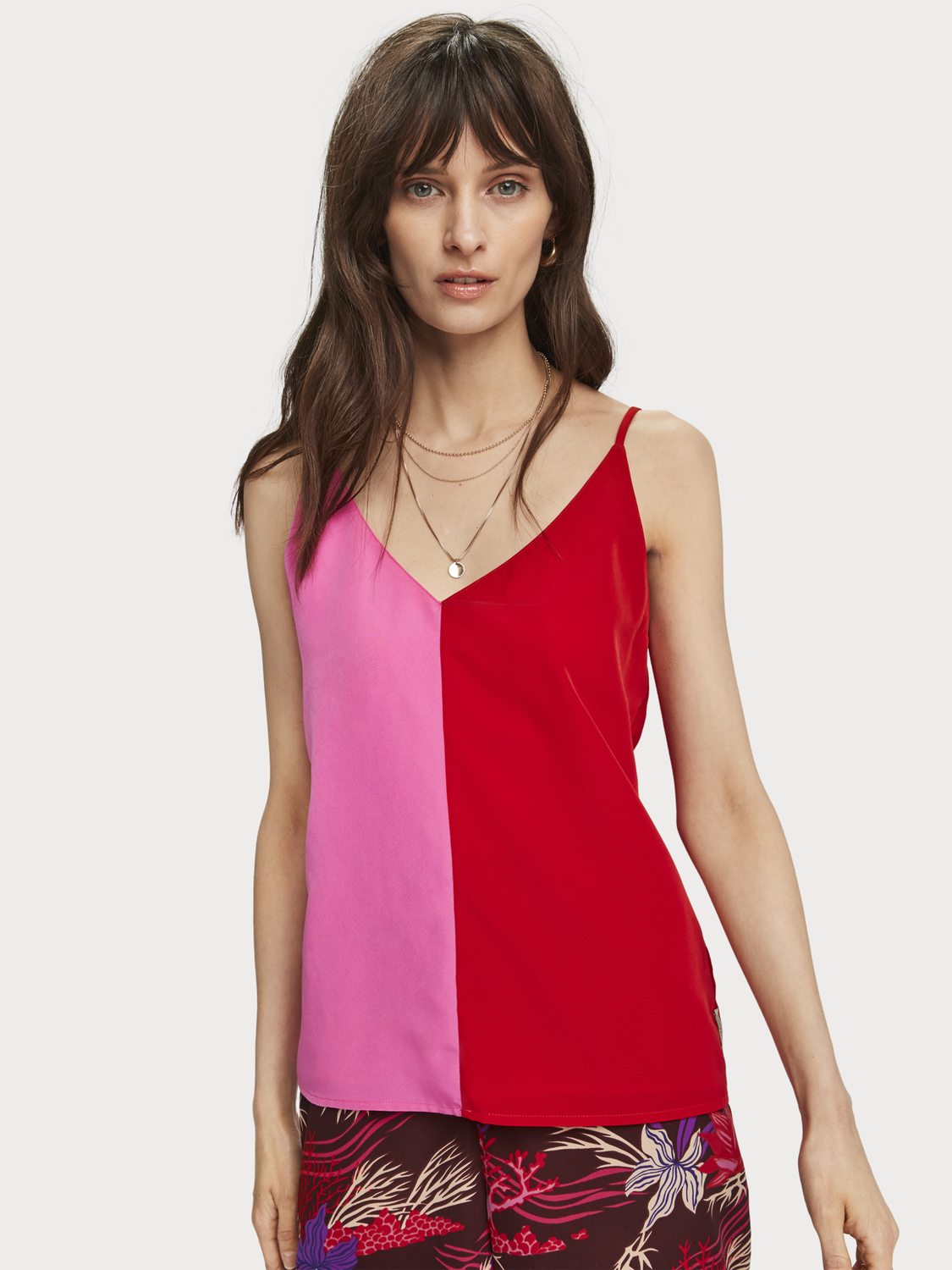 Dames Colourblock tanktop