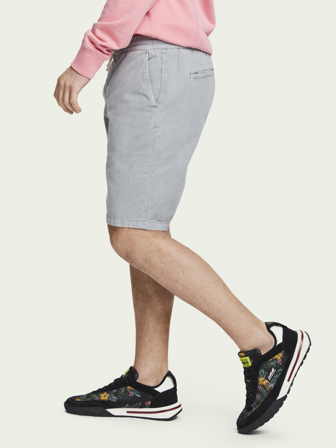 Men Cotton-Linen Shorts