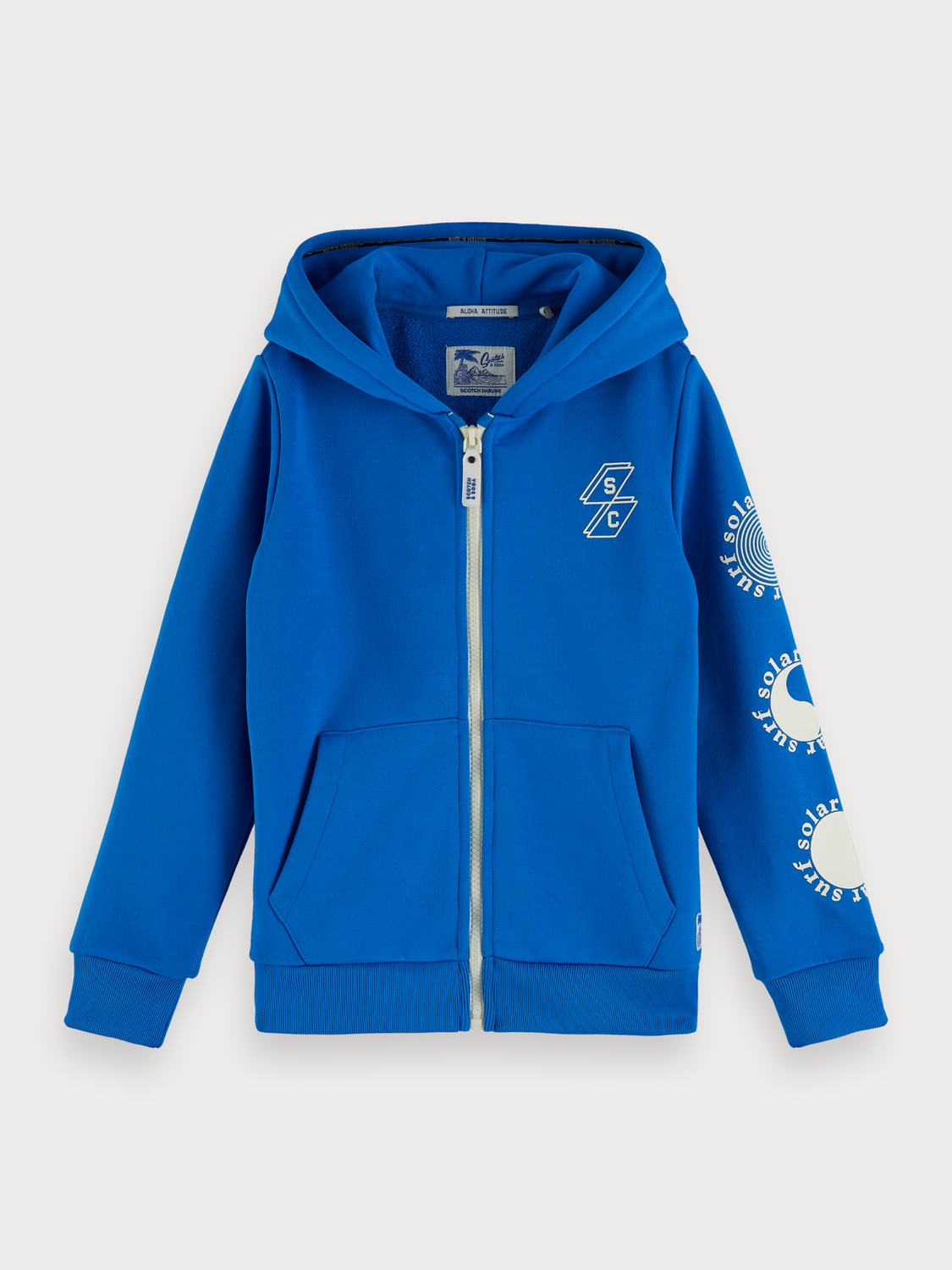 Boys Blue Artwork Hoodie