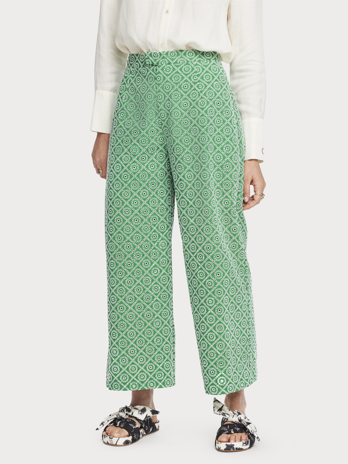 Dames Broderie anglaise broek