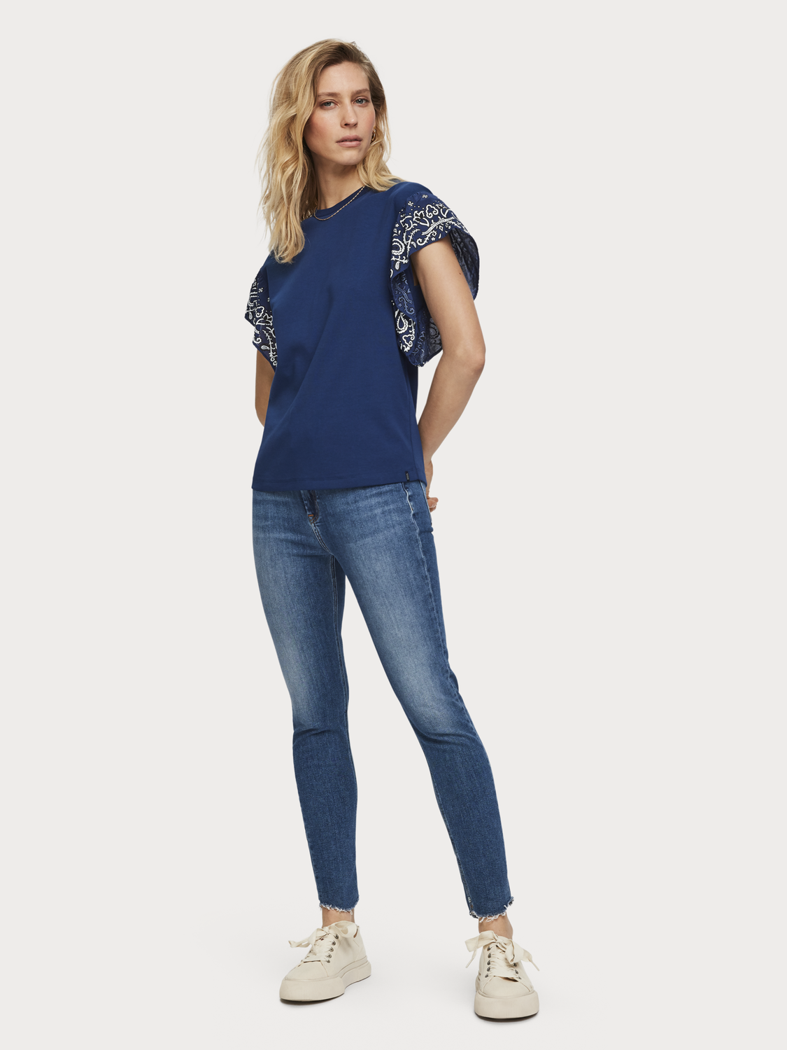 Donna Haut Cropped - Blue Treasure | High rise skinny fit