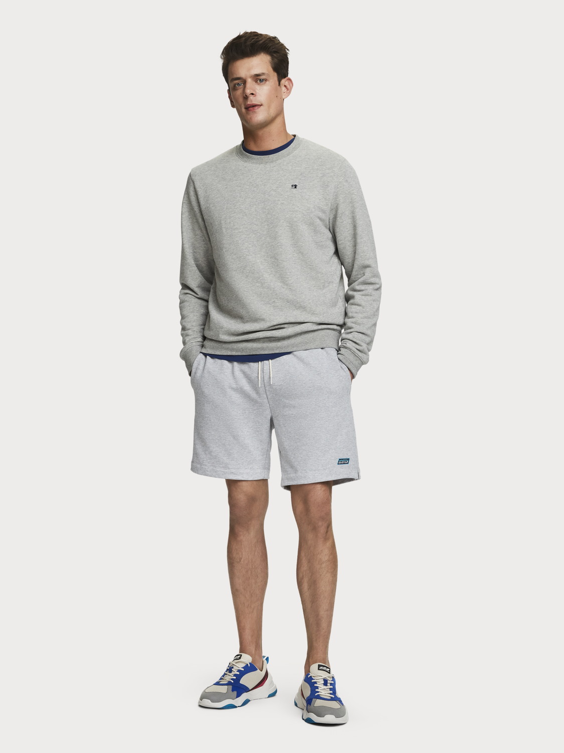 Men Drawstring Sweat Shorts