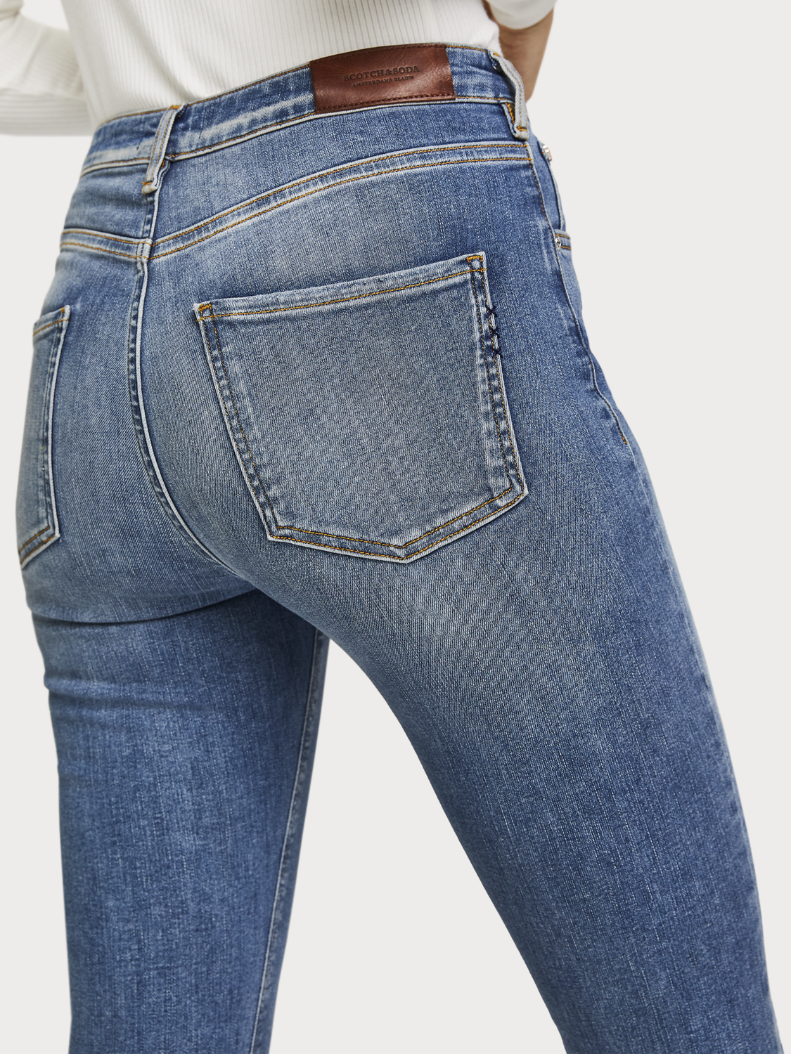 Women Haut - Underground Blue | High rise skinny fit