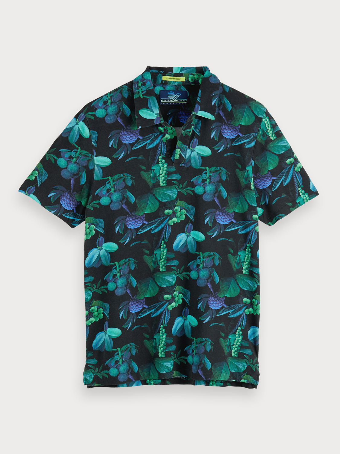 Men Printed Mercerised Polo