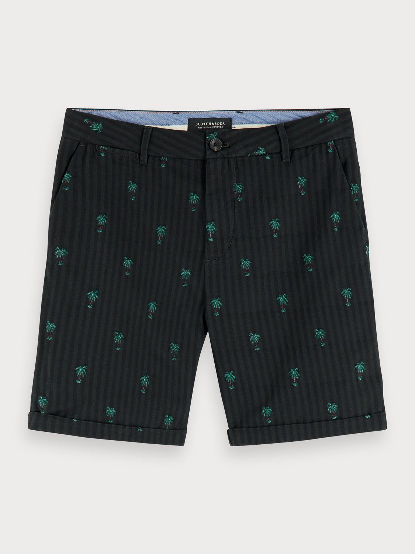 Men Mini jacquard chino shorts