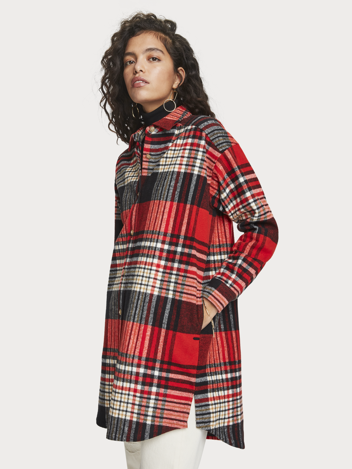 Dames Oversized geruit overshirt