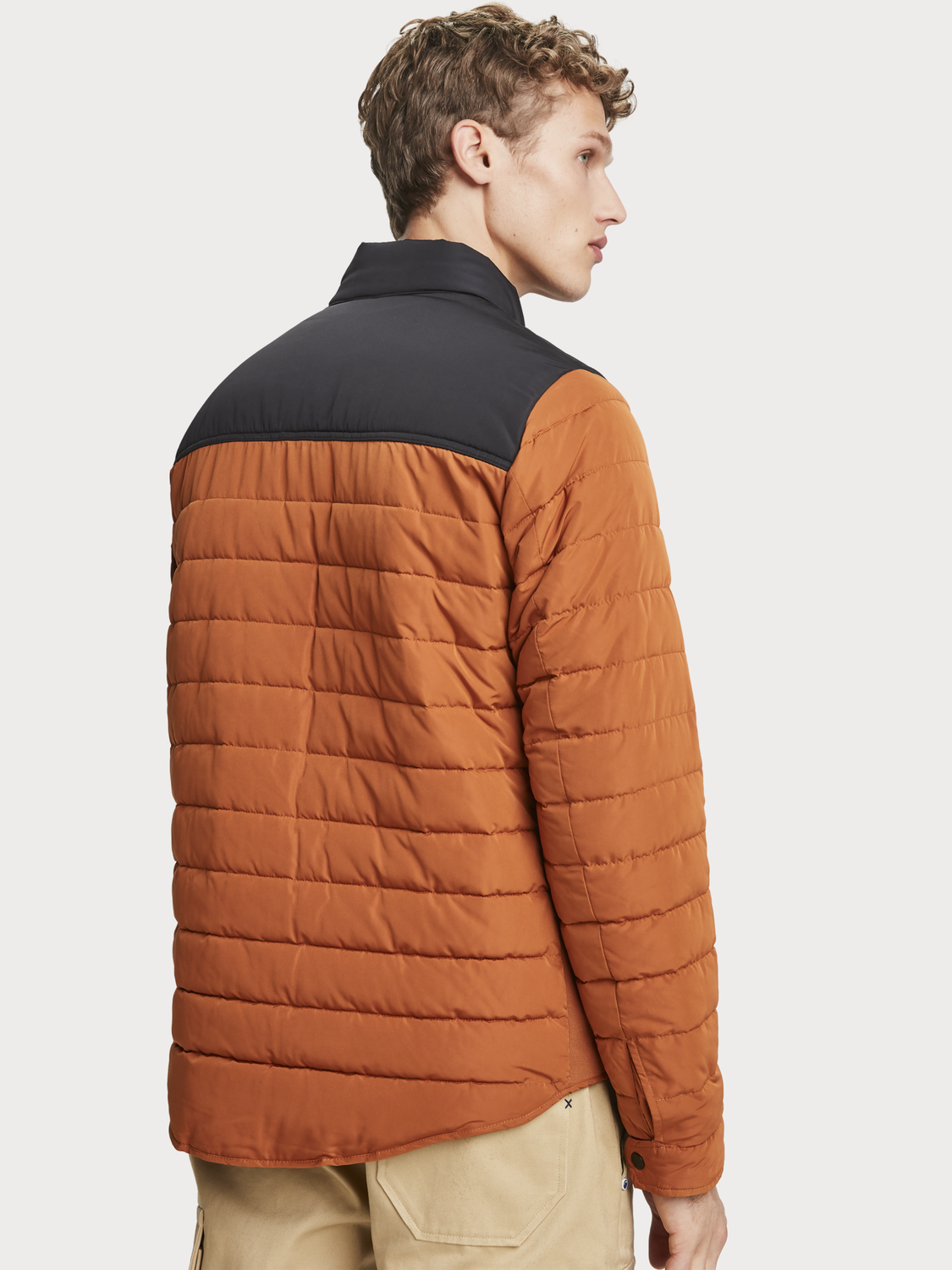 Men Short Quilted Jacket