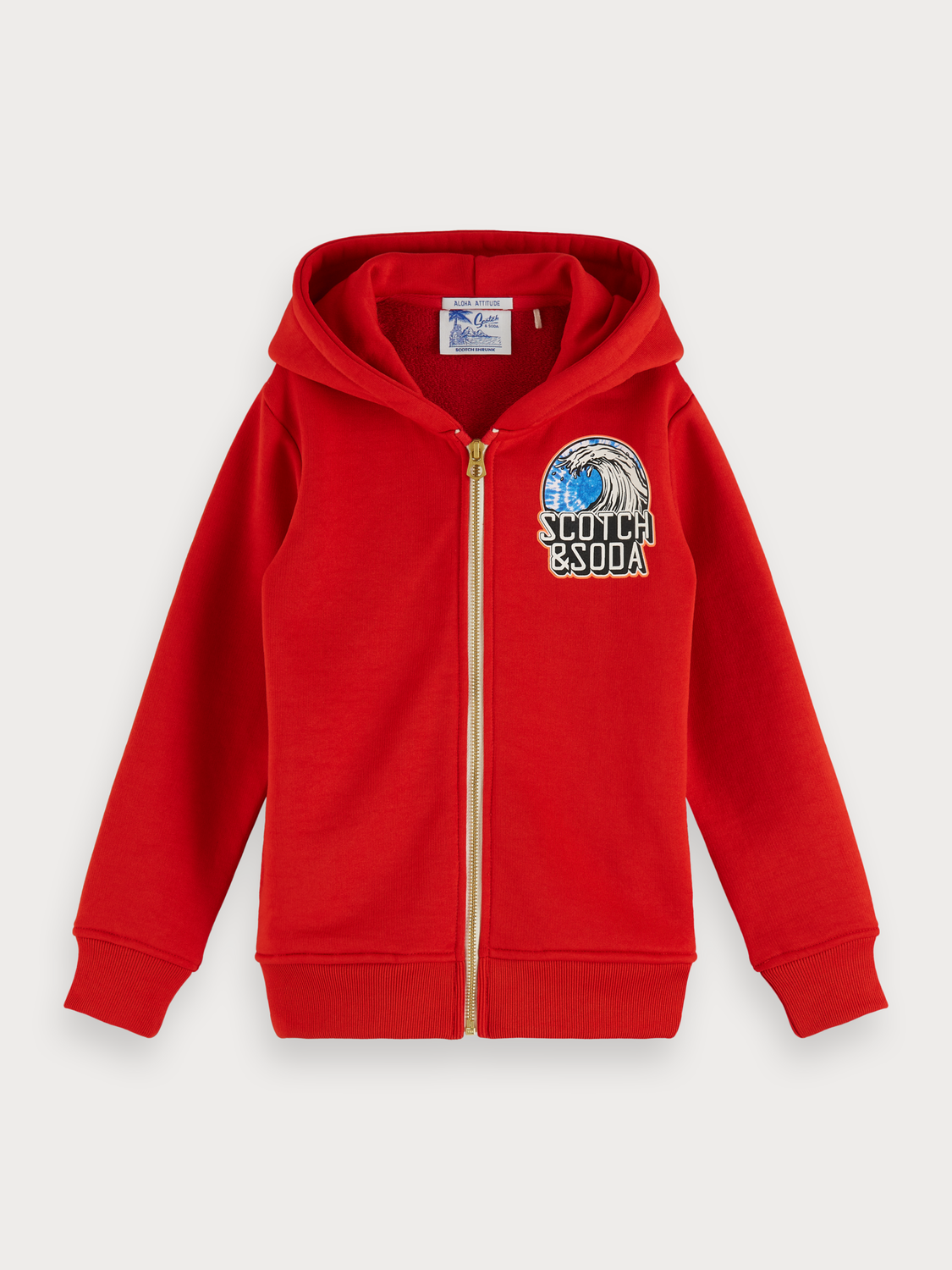 Boys Red artwork hoodie