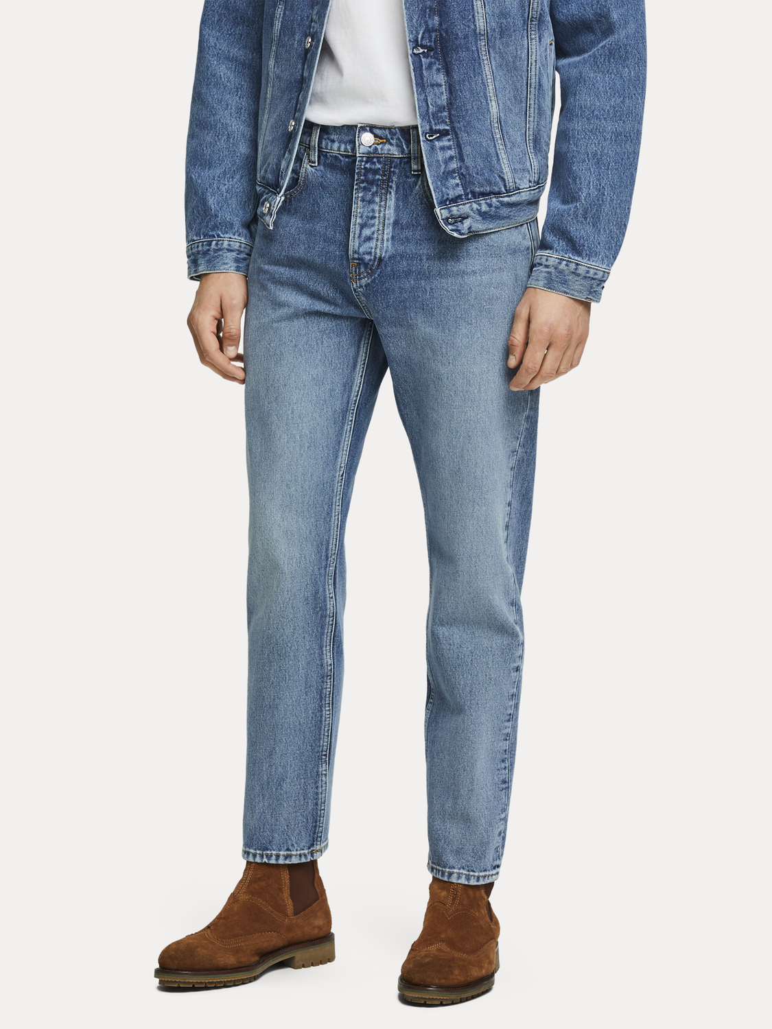 Homme The Norm - Blauw Cure   High rise straight fit
