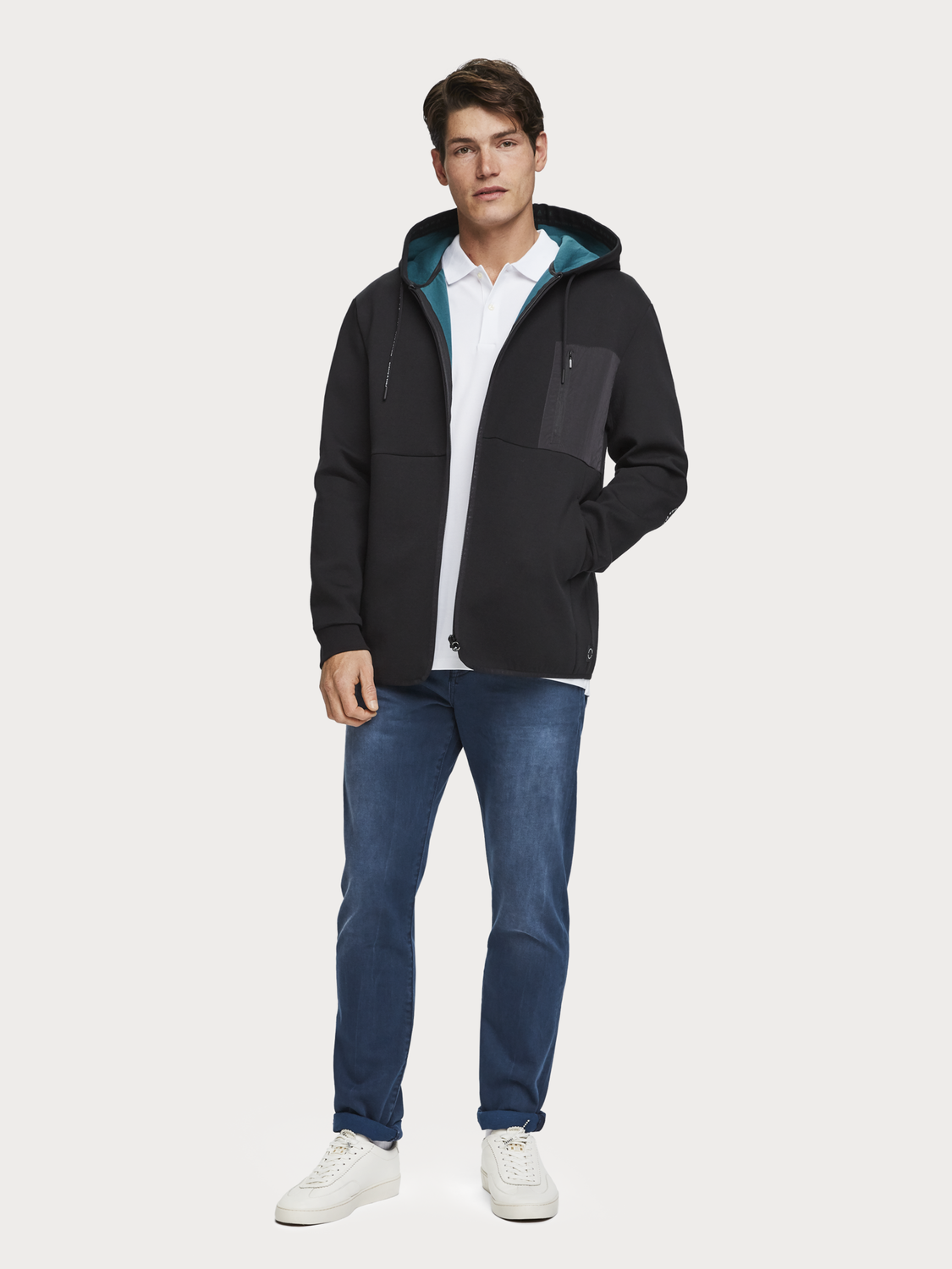 Men Technical Zip-Through Hoodie