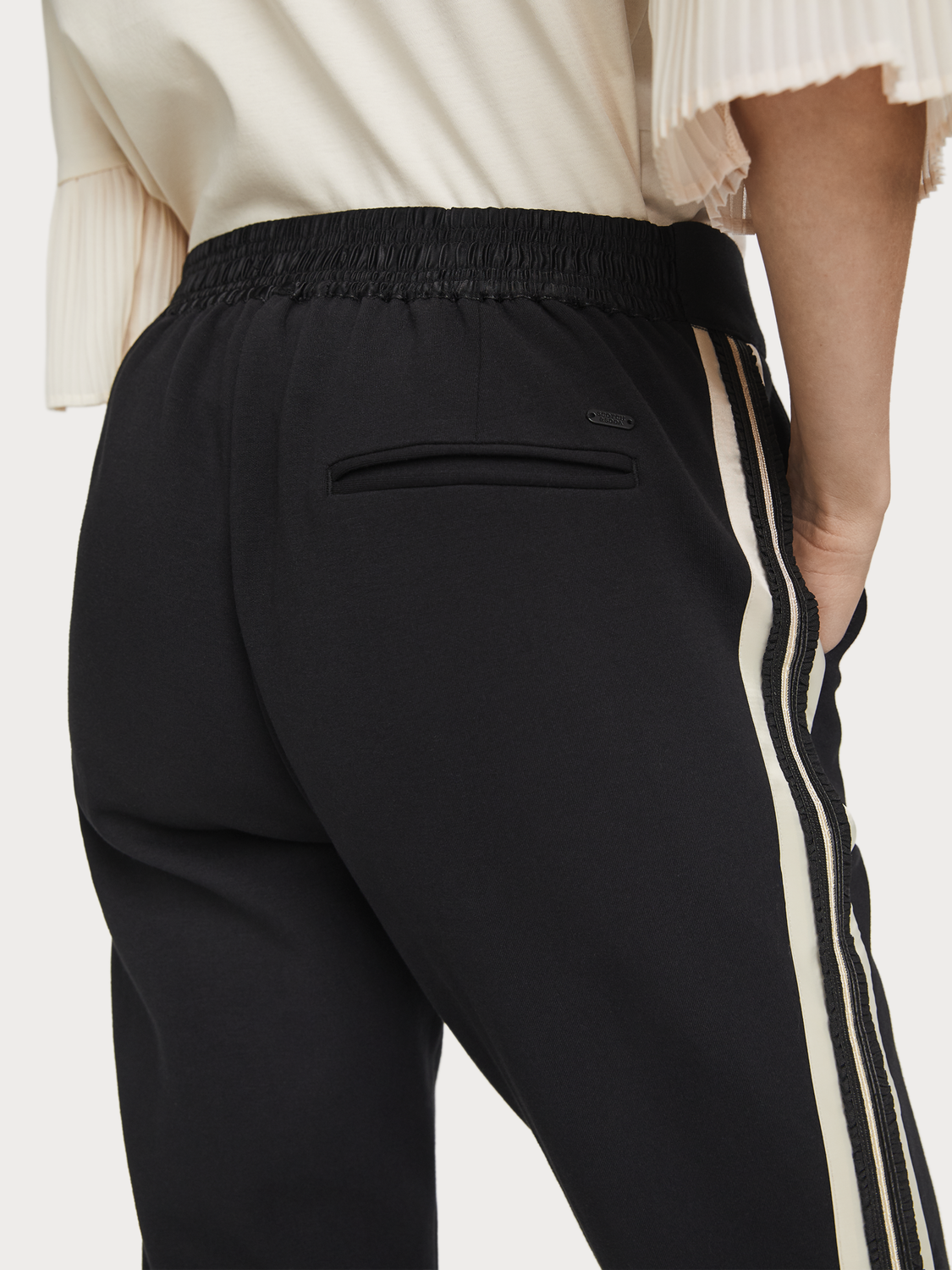 Women Refined Tape Detail Sweatpants