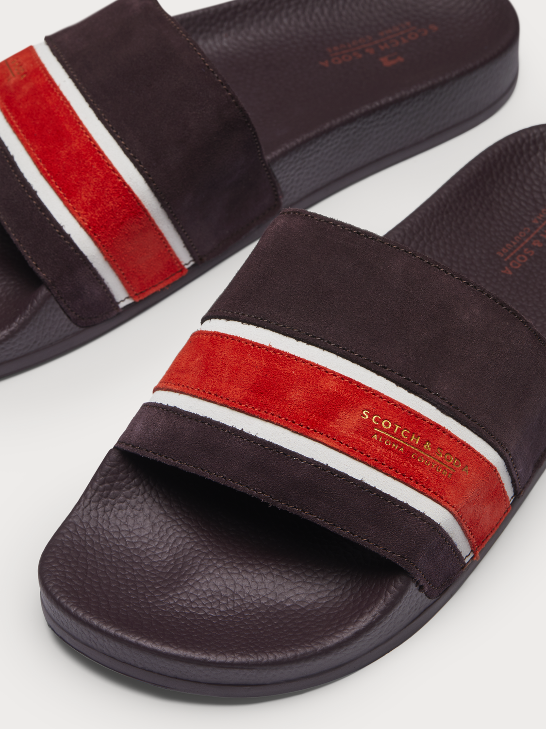 Men Galvyn - Striped Suede Slides