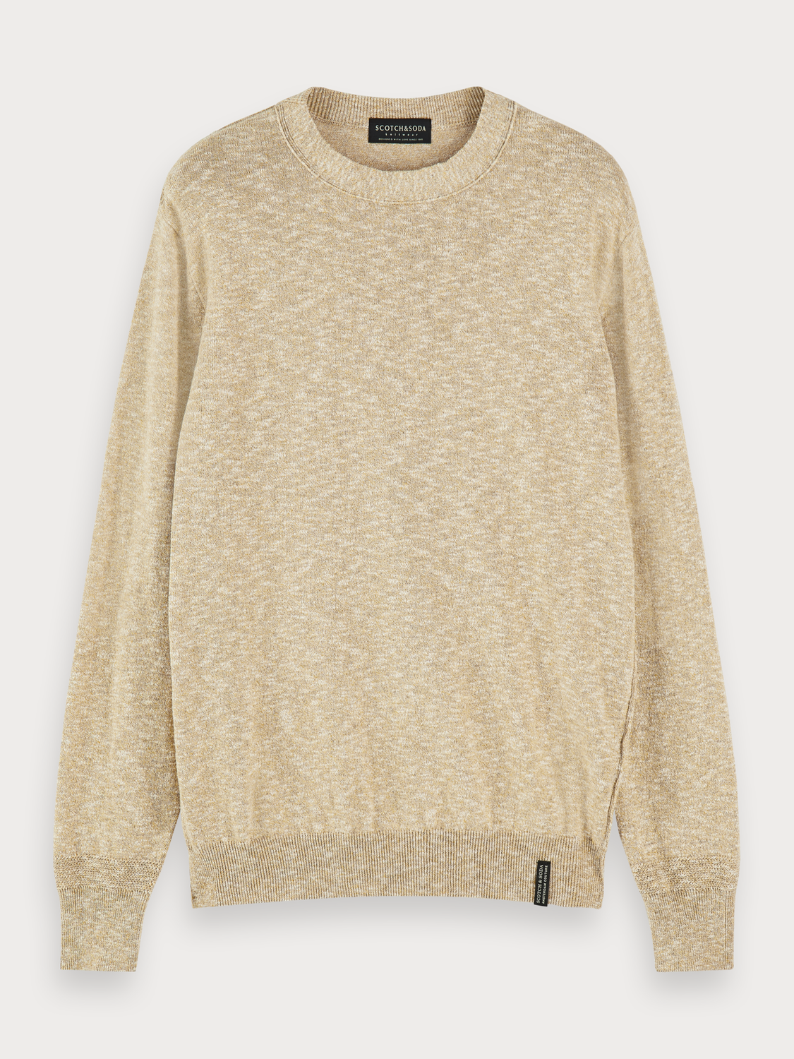 Men Slub Crew Neck Pullover