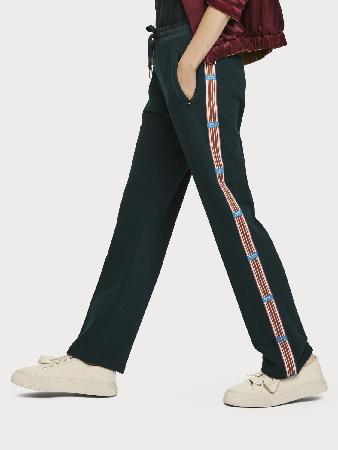 Women Side Tape Sweat Pants
