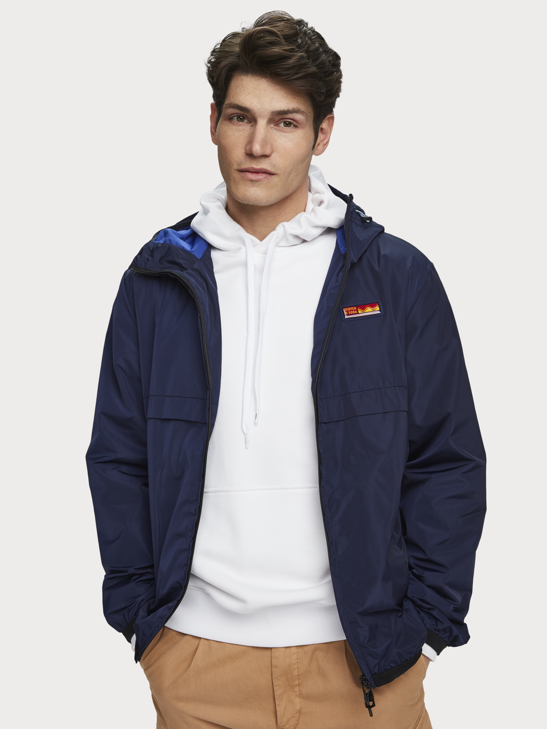 Men Double-hood jacket