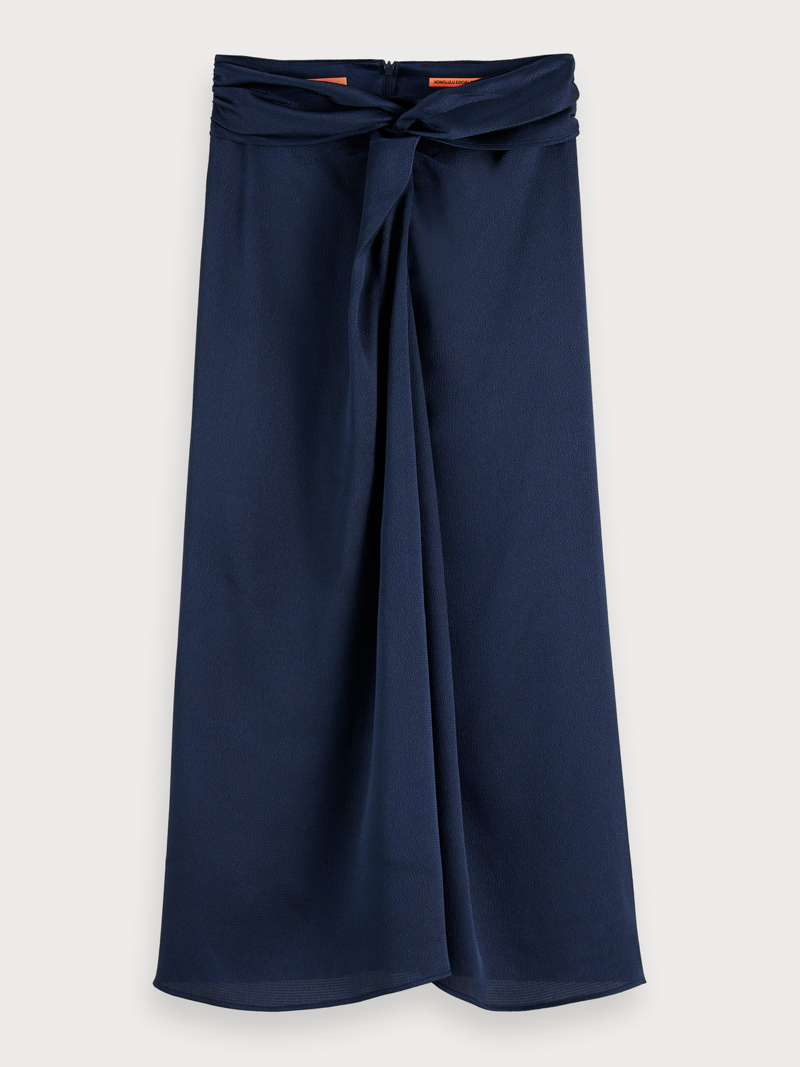 Women Knot Front Midi Skirt