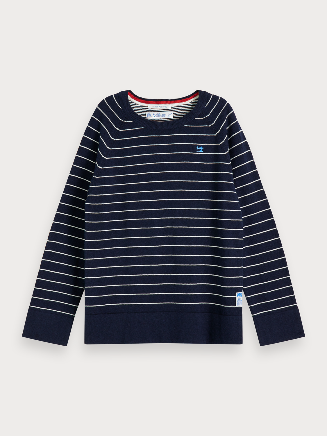 Boys Striped crew neck pullover
