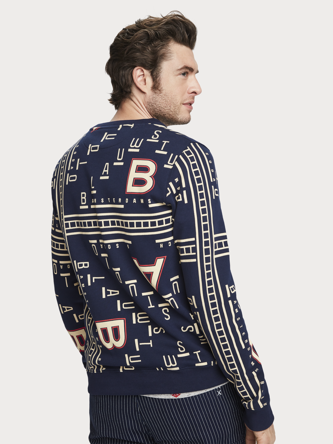Men All-Over Printed Sweater