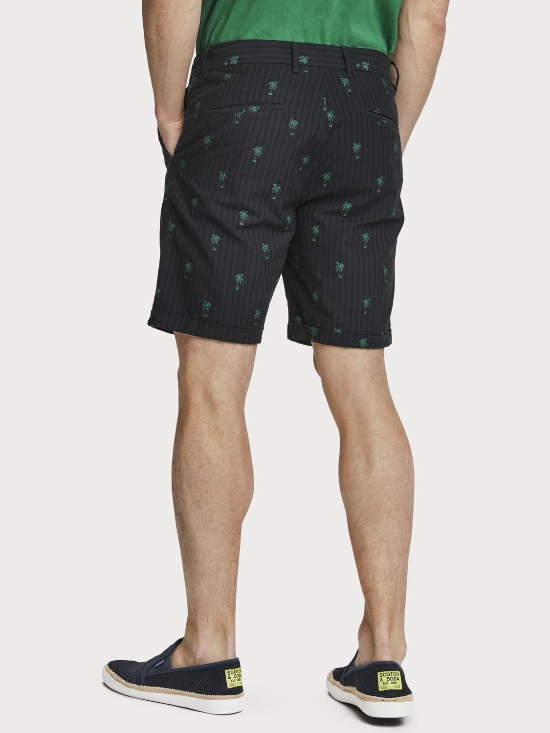 Men Mini Jacquard Chino Shorts