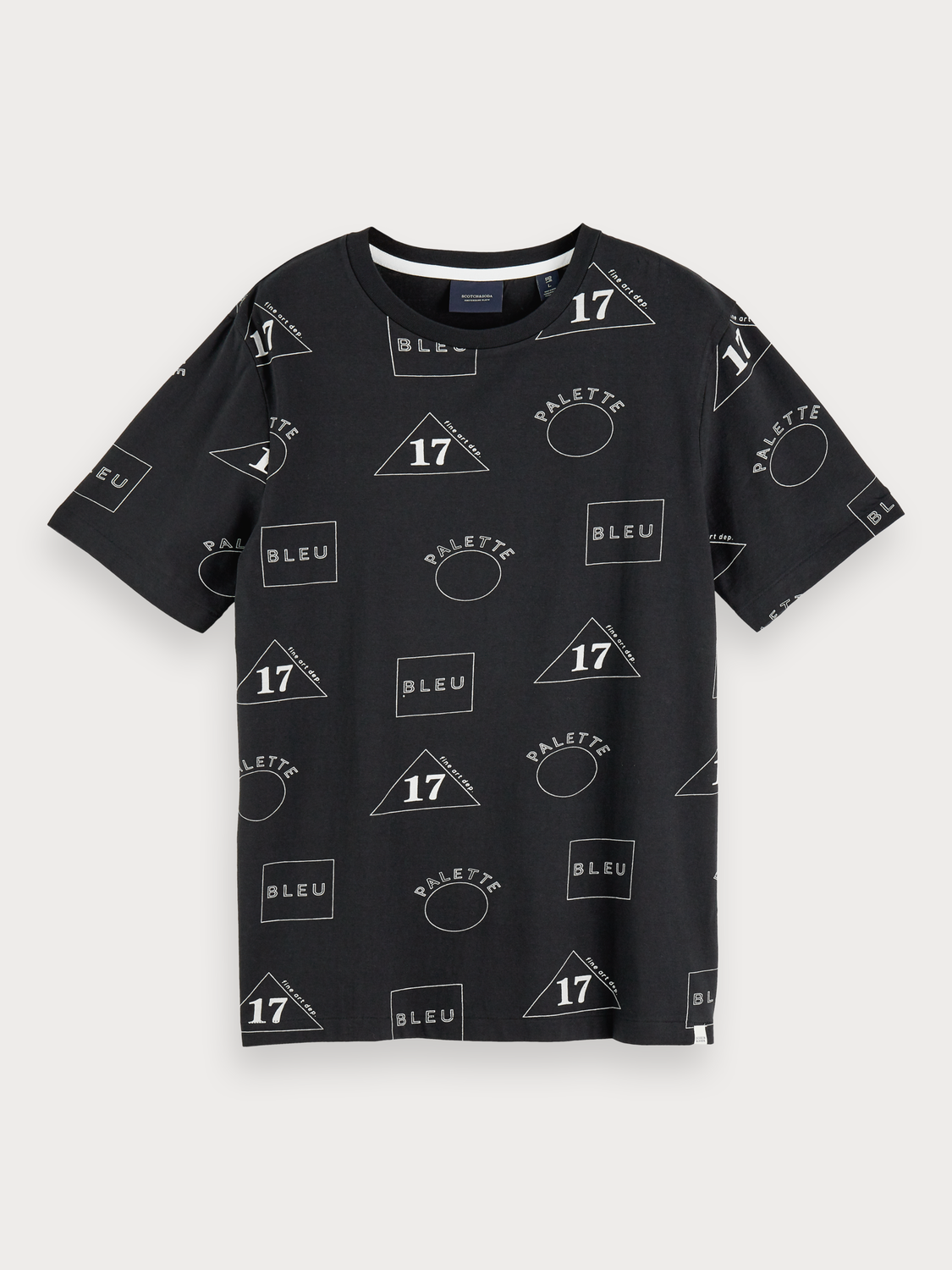 Uomo T-shirt con stampa all-over