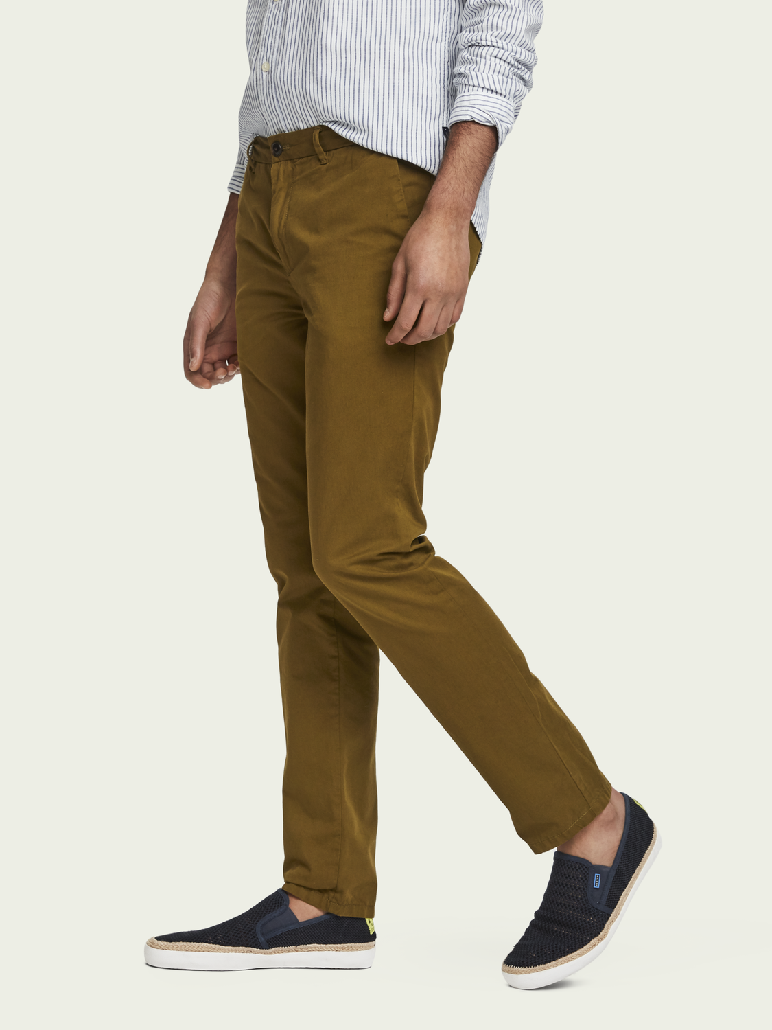 Men Mott - Pima cotton chinos | Super slim fit