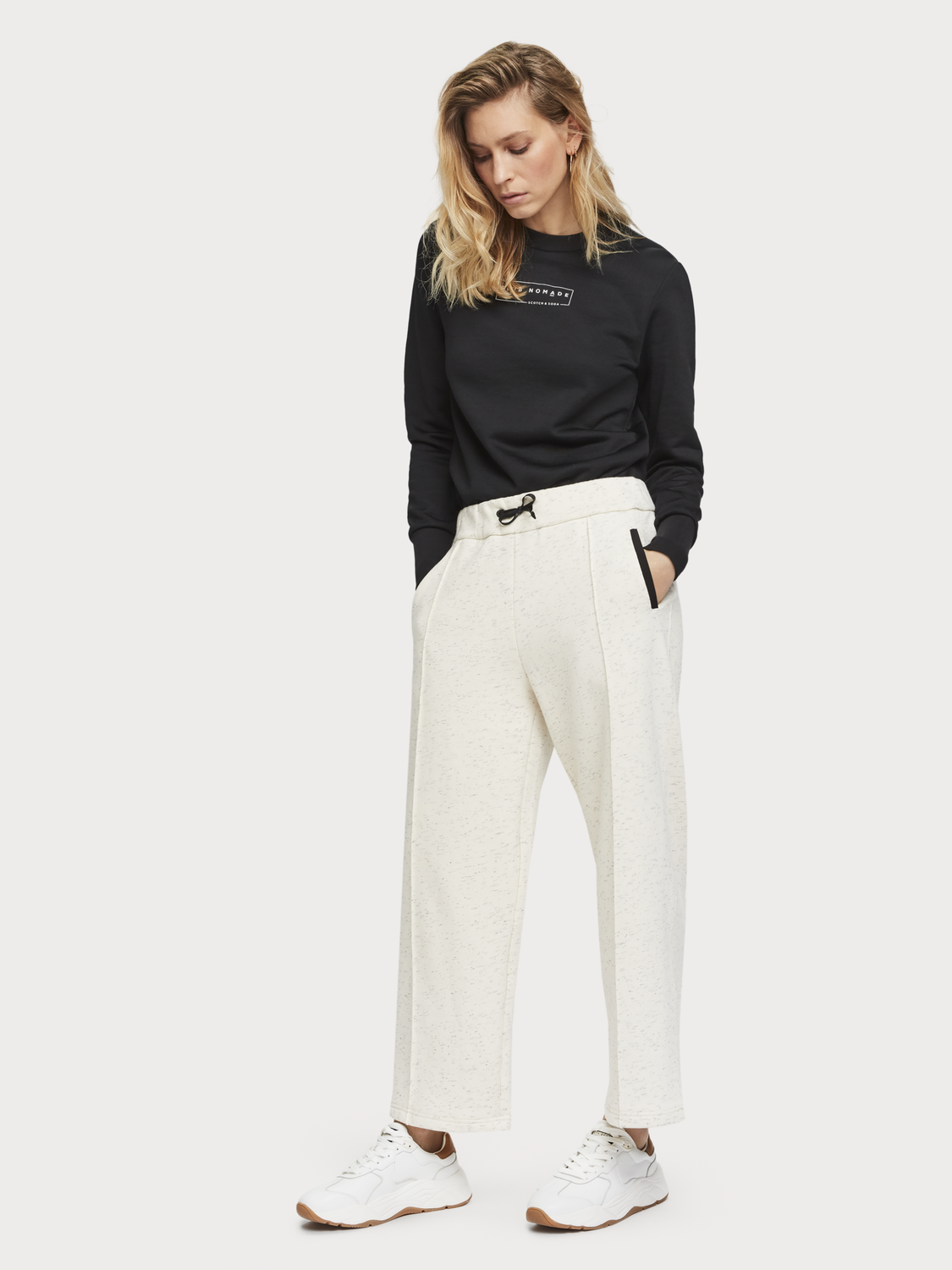 Women Cropped Wide Leg Sweatpants