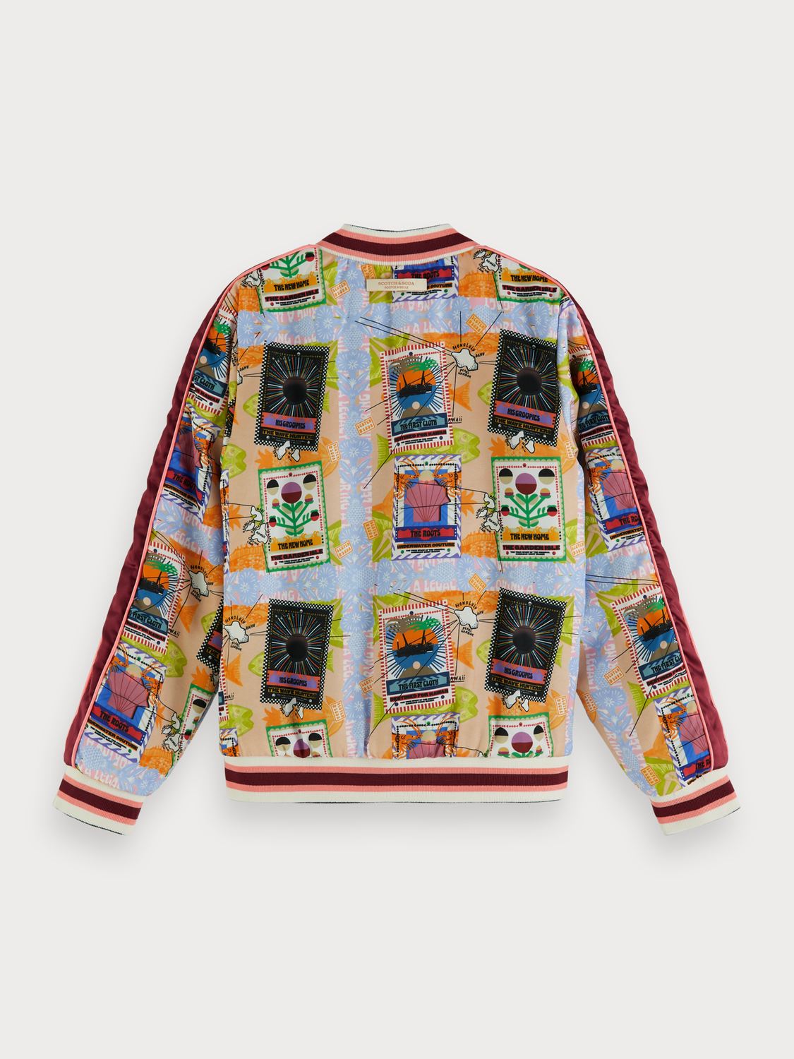 Girls Printed reversible bomber jacket