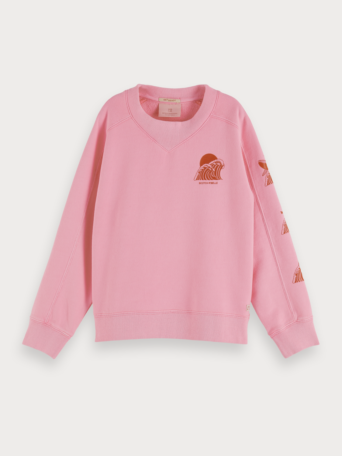 Girls Wave Artwork Sweater