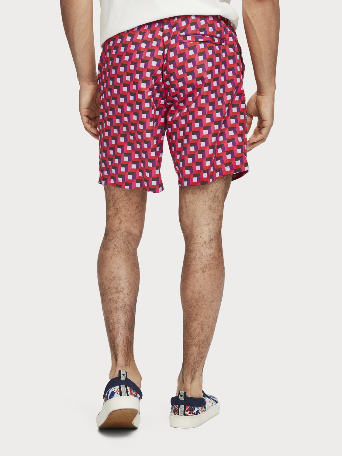 Men Mid-Length Printed Swim Shorts