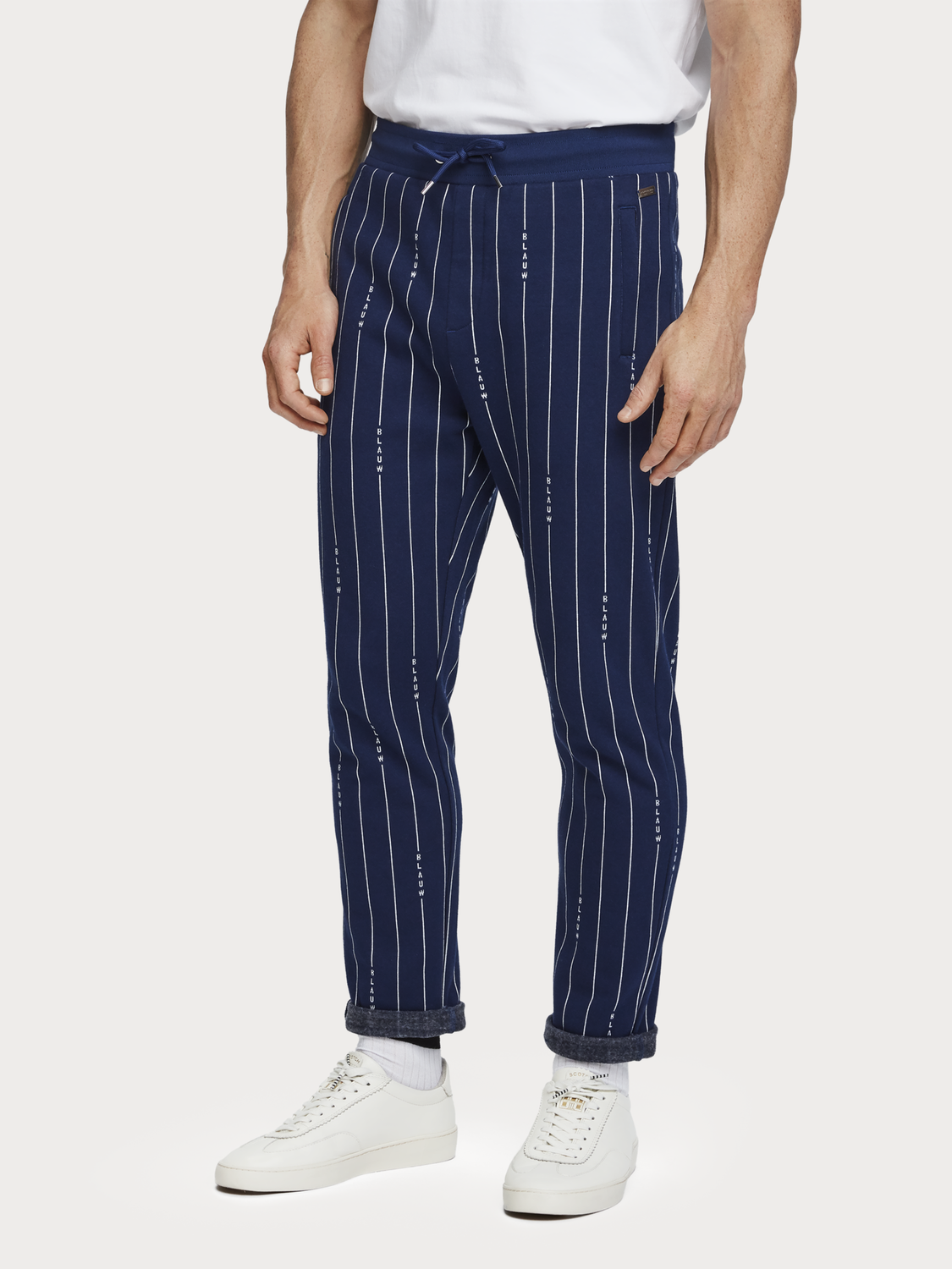 Men Striped Sweatpants