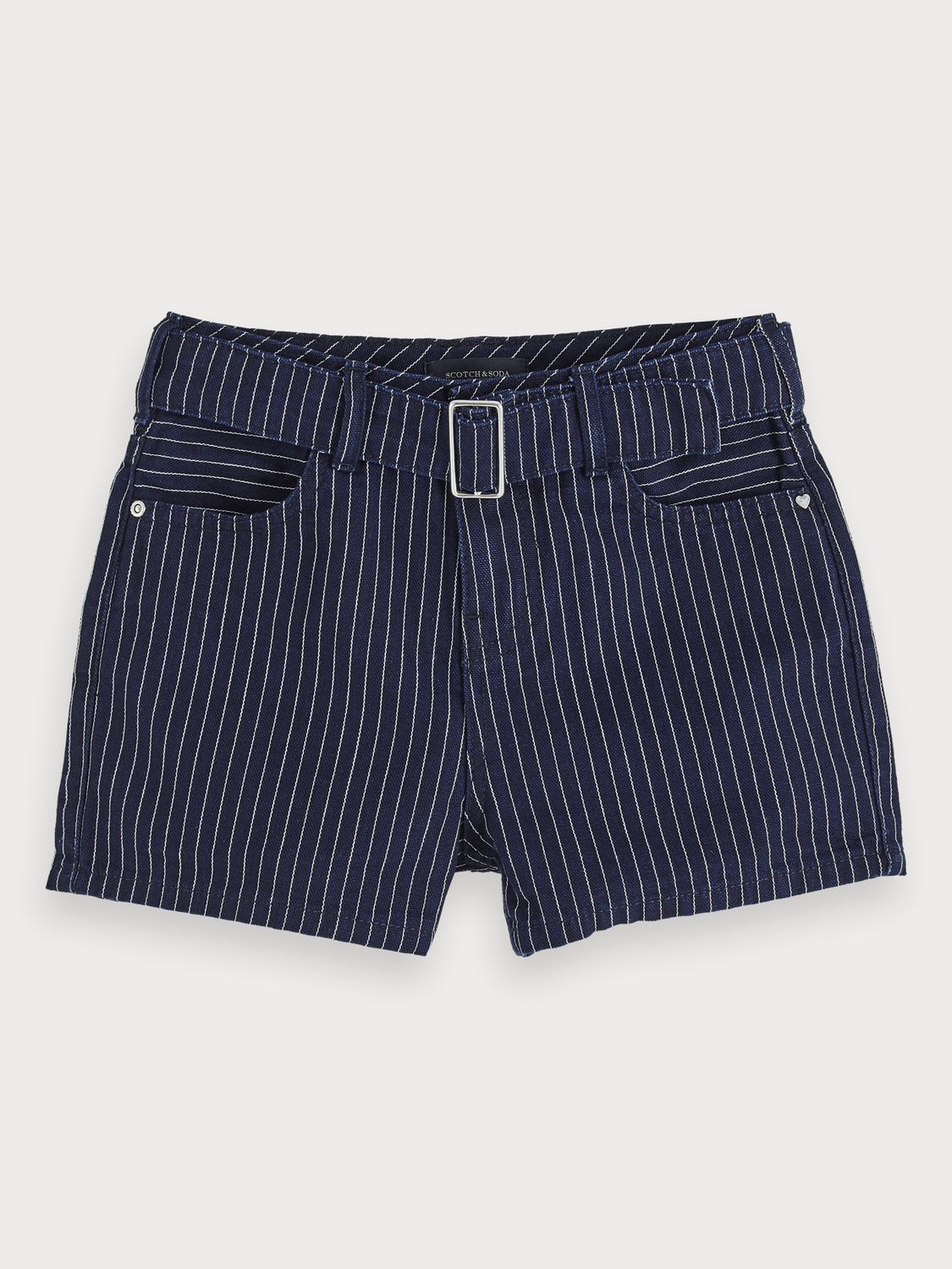 Bambina Shorts in denim a righe hickory