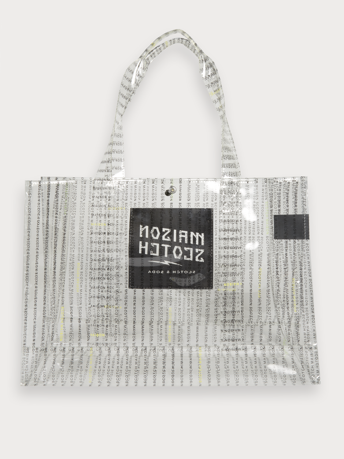 Women Clear printed tote