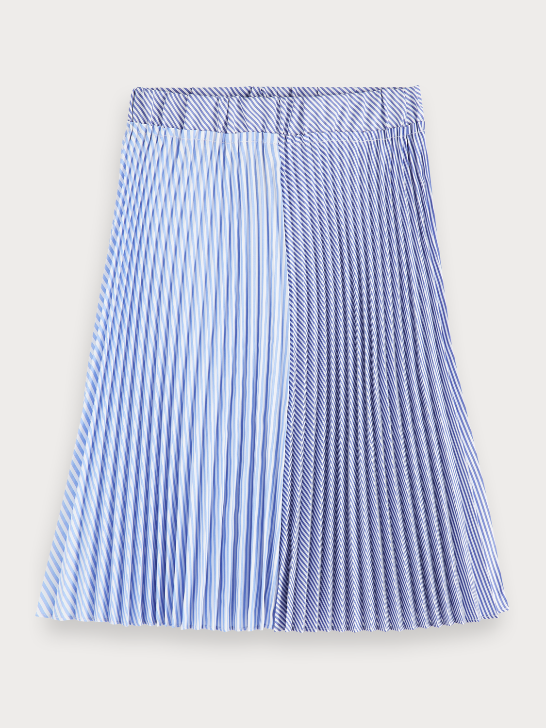 Girls Striped pleated midi skirt
