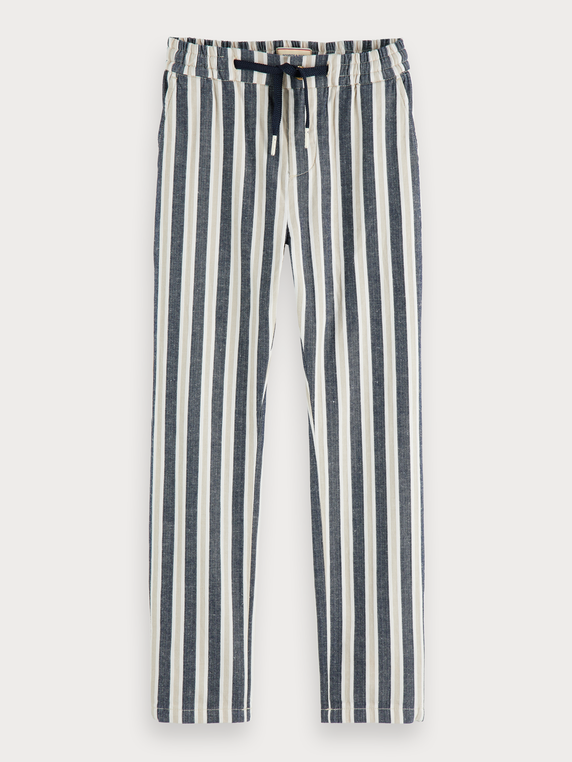 Boys Cotton-linen trousers | Loose tapered fit