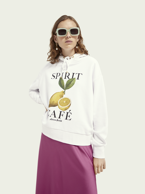 Scotch & Soda RECYCLED ARTWORK LOOSE FIT HOODIE