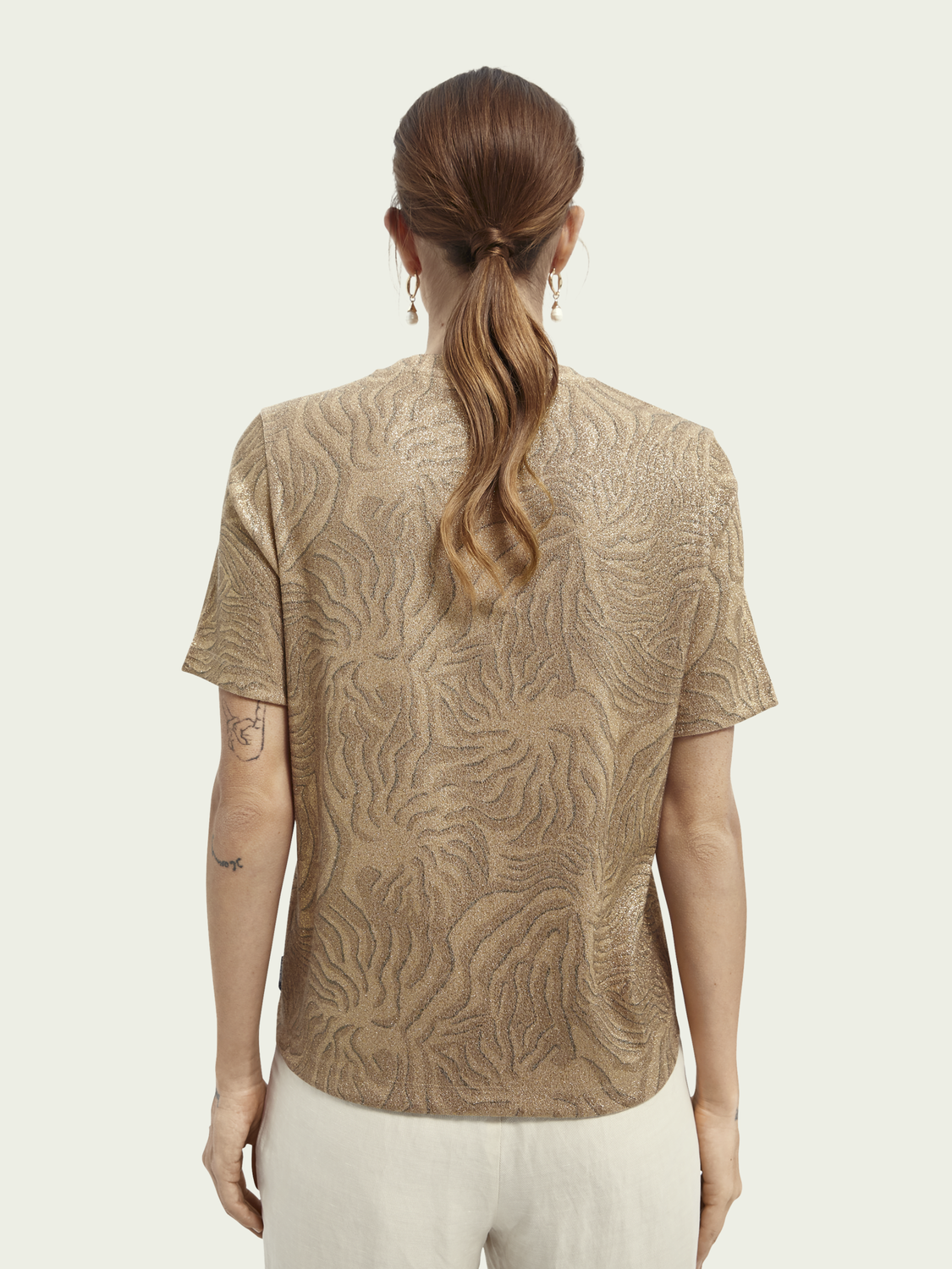 Dames Relaxed fit T-shirt met print van een ECOVERO™-mix